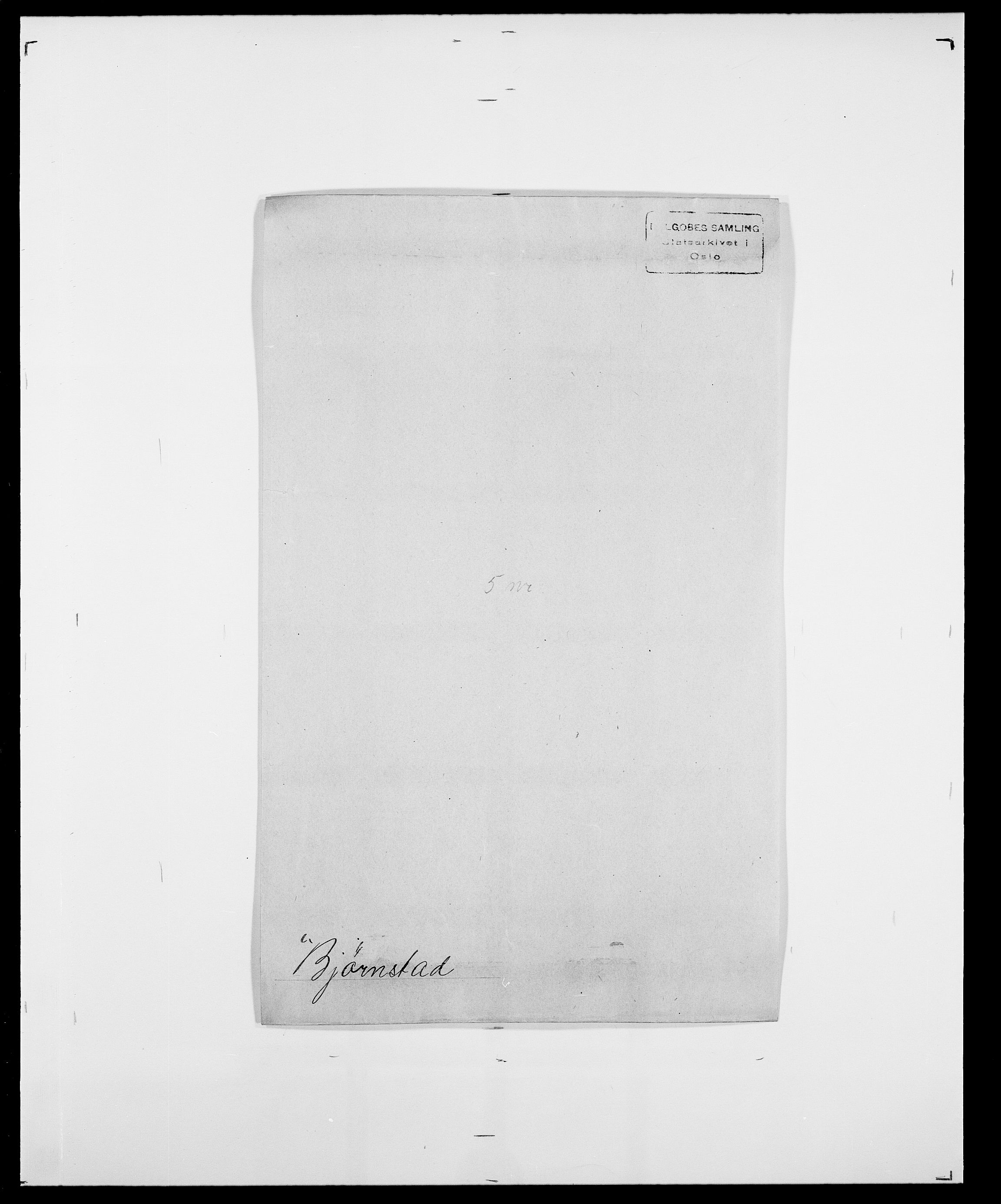 SAO, Delgobe, Charles Antoine - samling, D/Da/L0004: Bergendahl - Blære, s. 493