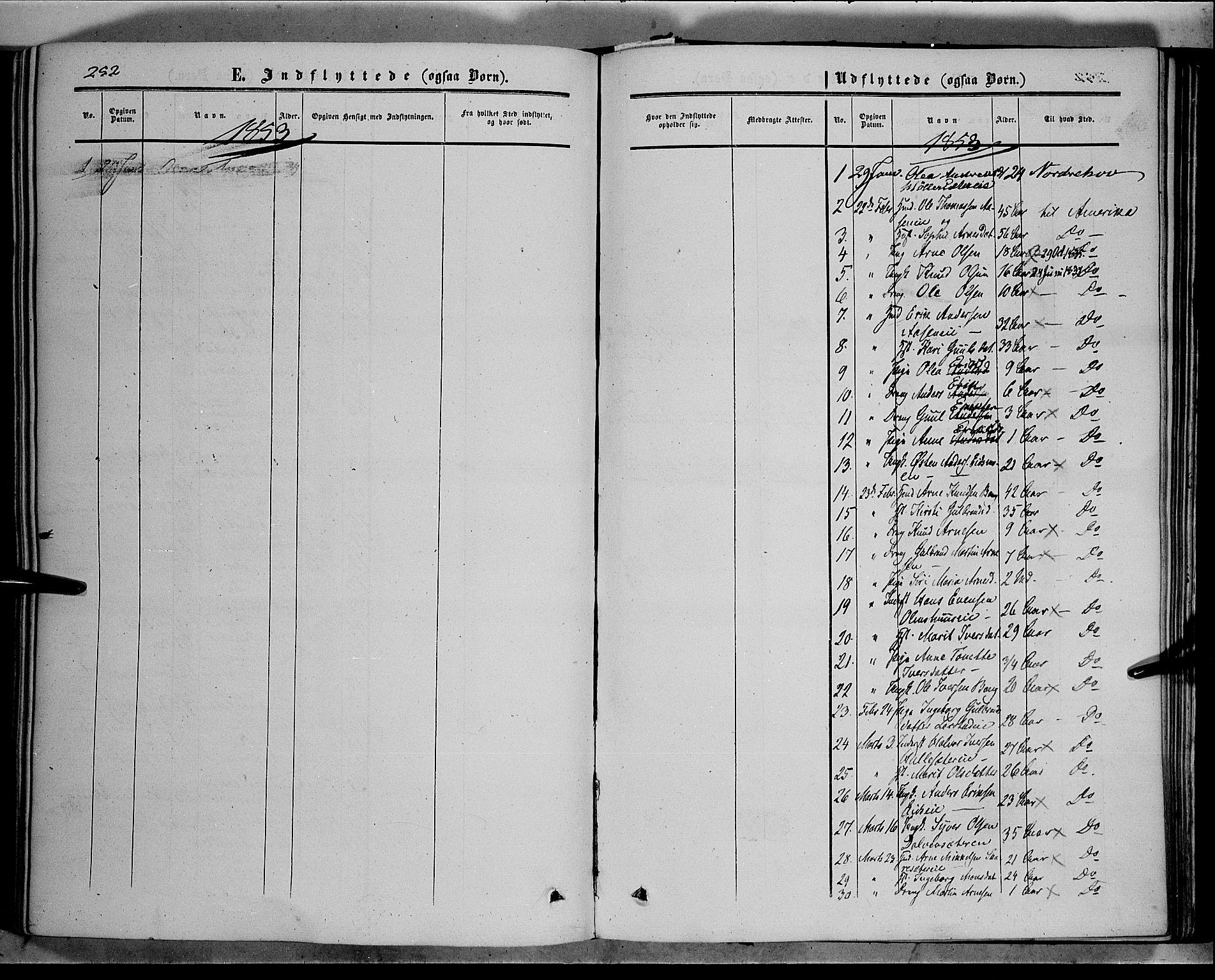 SAH, Sør-Aurdal prestekontor, Ministerialbok nr. 5, 1849-1876, s. 252