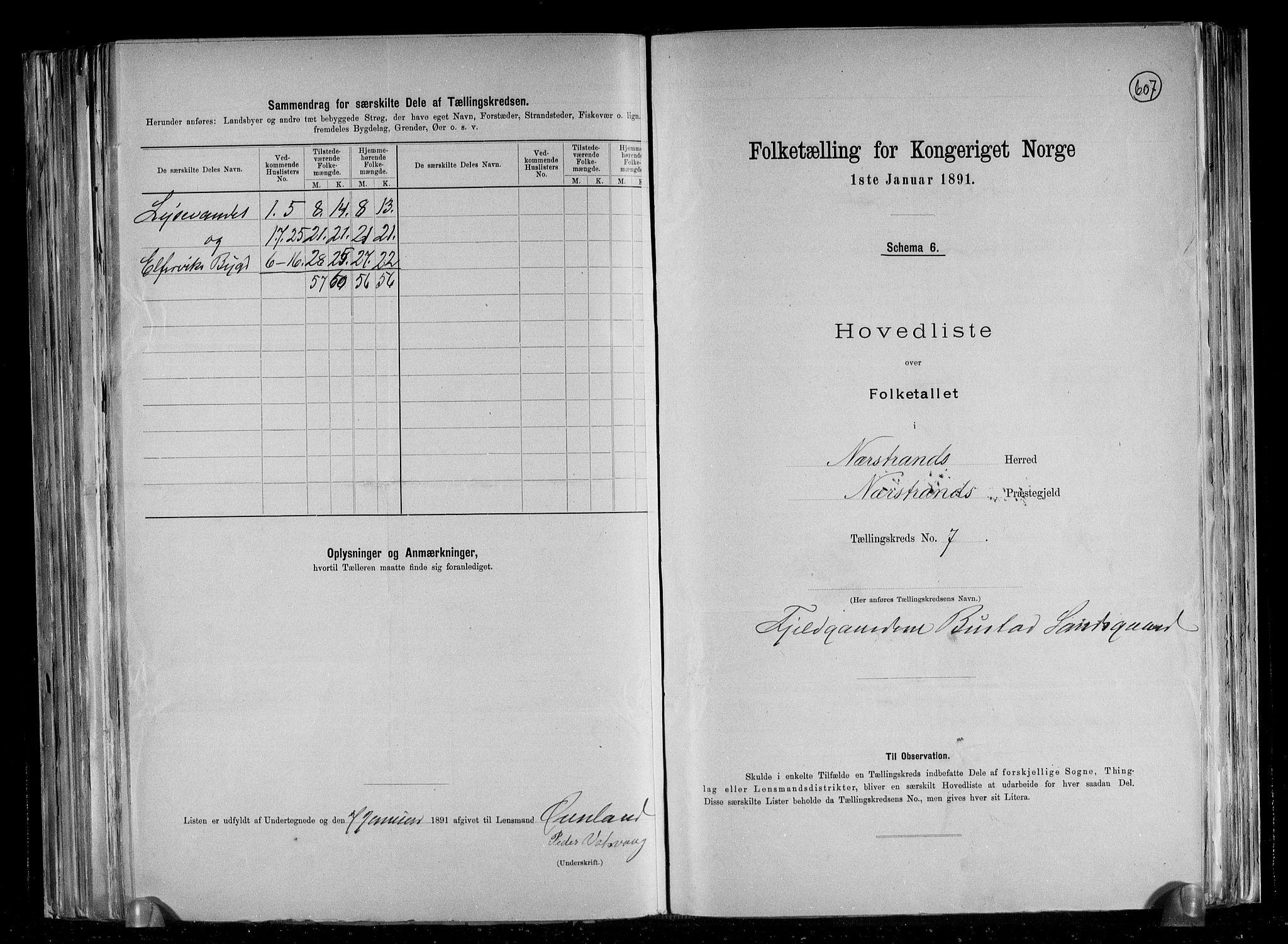 RA, Folketelling 1891 for 1139 Nedstrand herred, 1891, s. 17