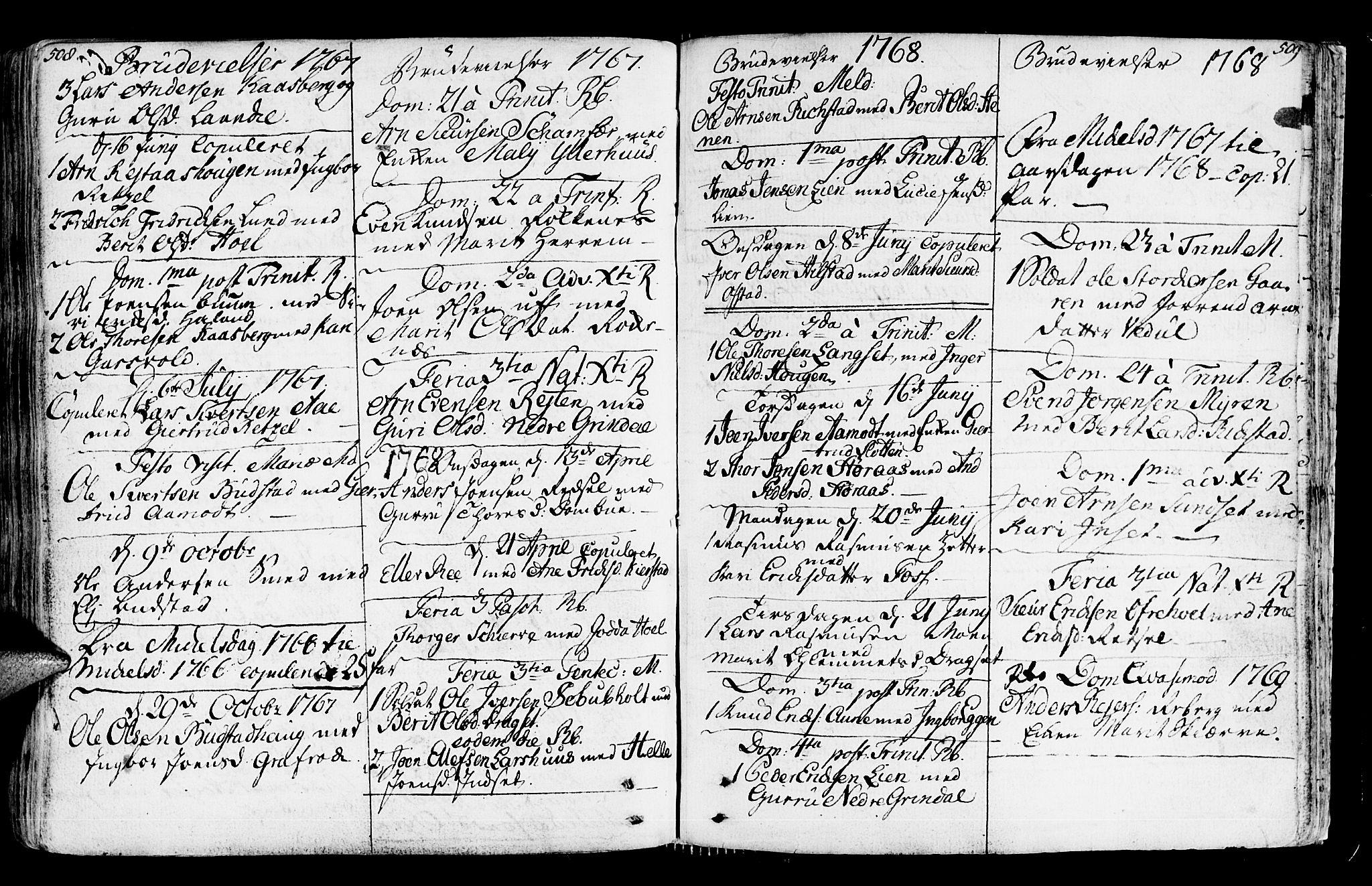 SAT, Ministerialprotokoller, klokkerbøker og fødselsregistre - Sør-Trøndelag, 672/L0851: Ministerialbok nr. 672A04, 1751-1775, s. 508-509