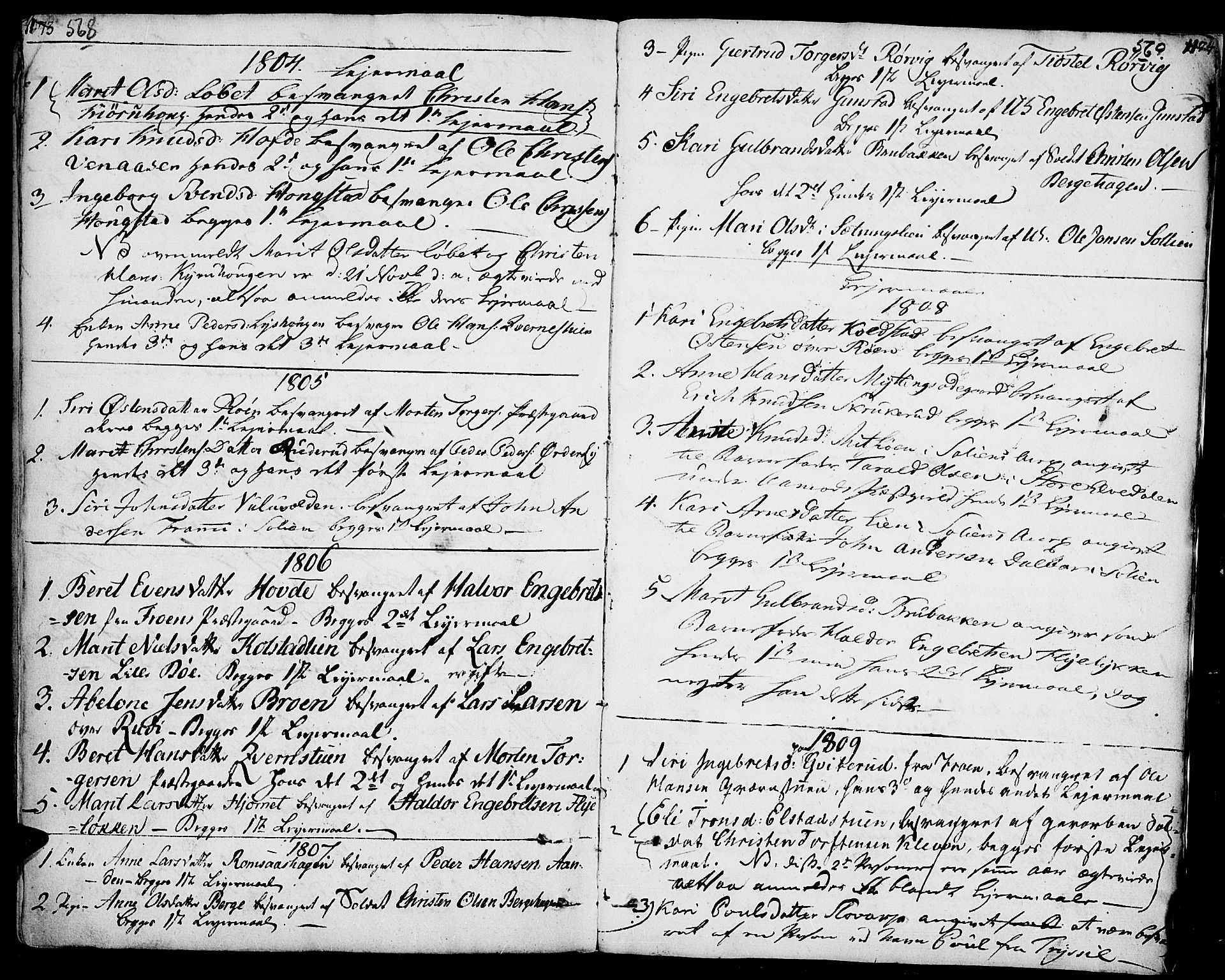 SAH, Ringebu prestekontor, Ministerialbok nr. 3, 1781-1820, s. 568-569