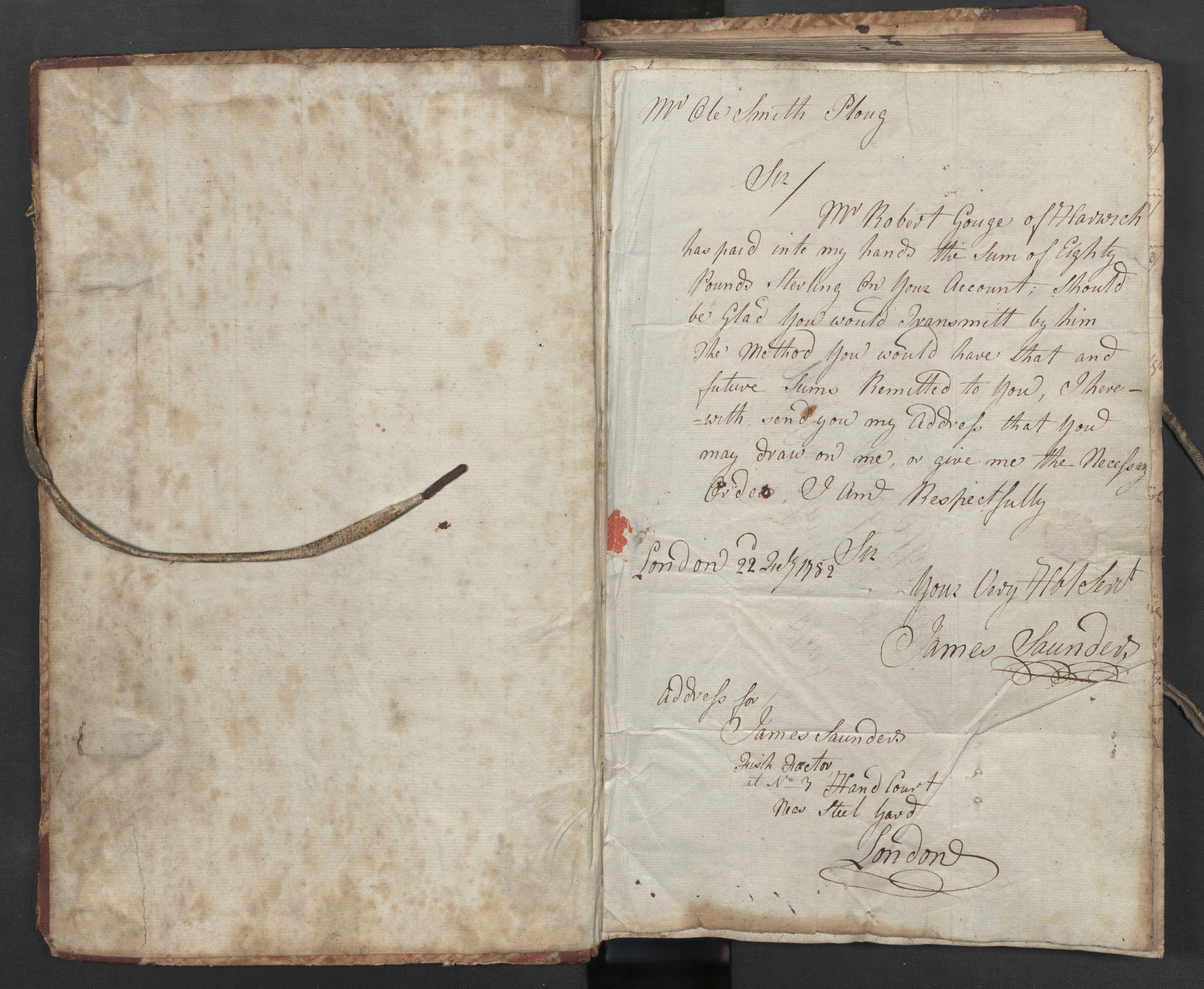 SAST, Pa 0003 - Ploug & Sundt, handelshuset, B/L0004: Kopibok, 1780-1784, s. upaginert