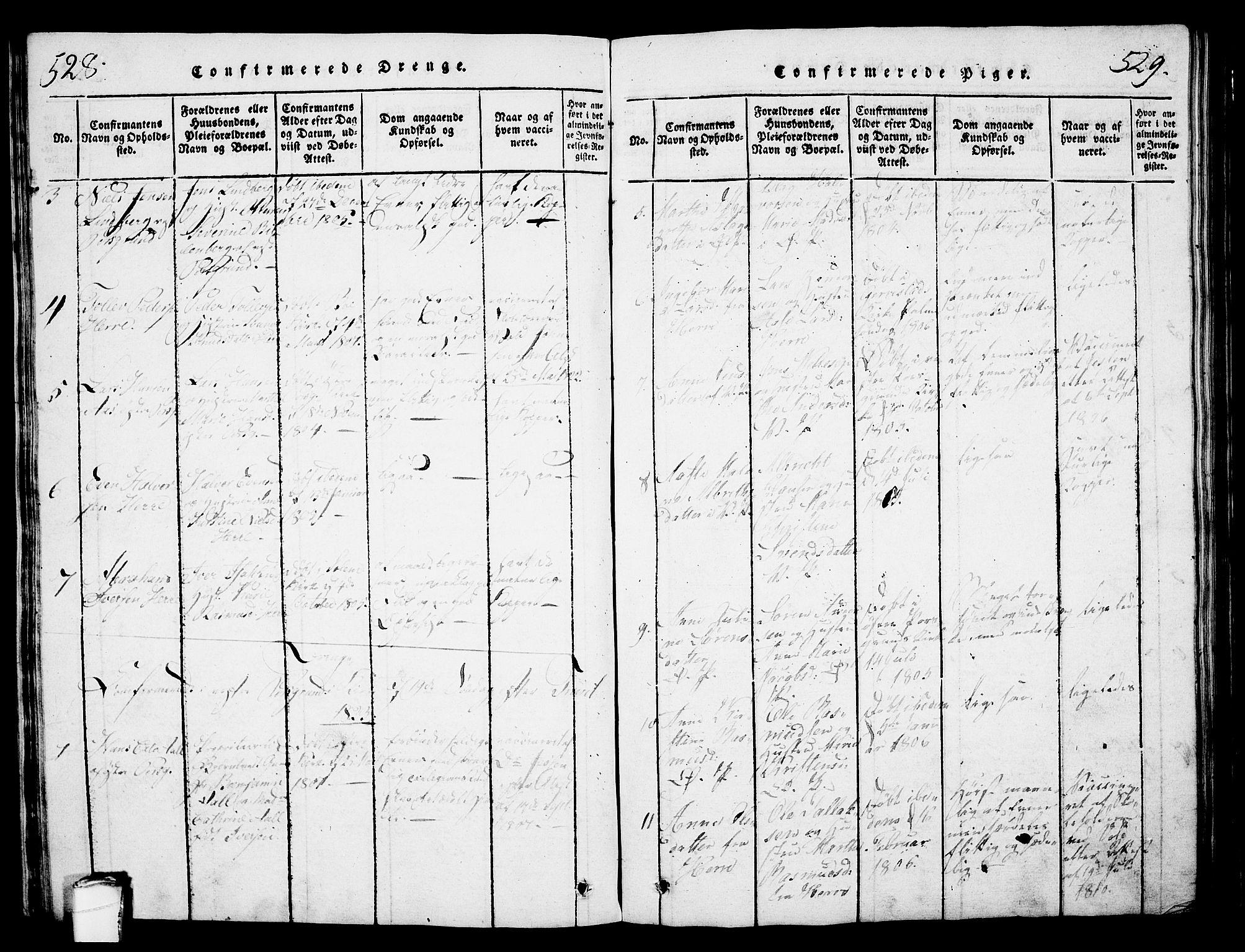 SAKO, Porsgrunn kirkebøker , G/Gb/L0001: Klokkerbok nr. II 1, 1817-1828, s. 528-529