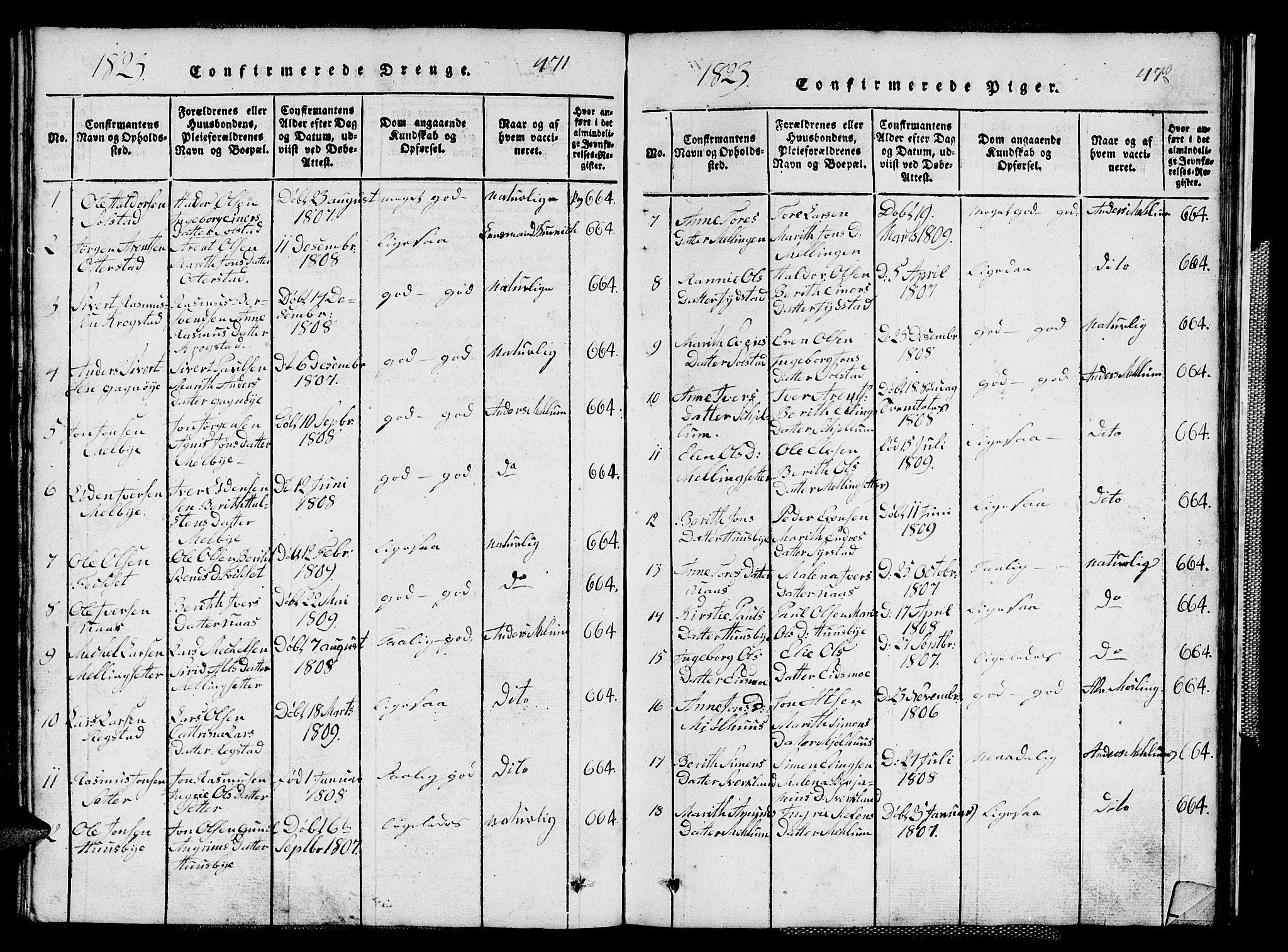 SAT, Ministerialprotokoller, klokkerbøker og fødselsregistre - Sør-Trøndelag, 667/L0796: Klokkerbok nr. 667C01, 1817-1836, s. 471-472