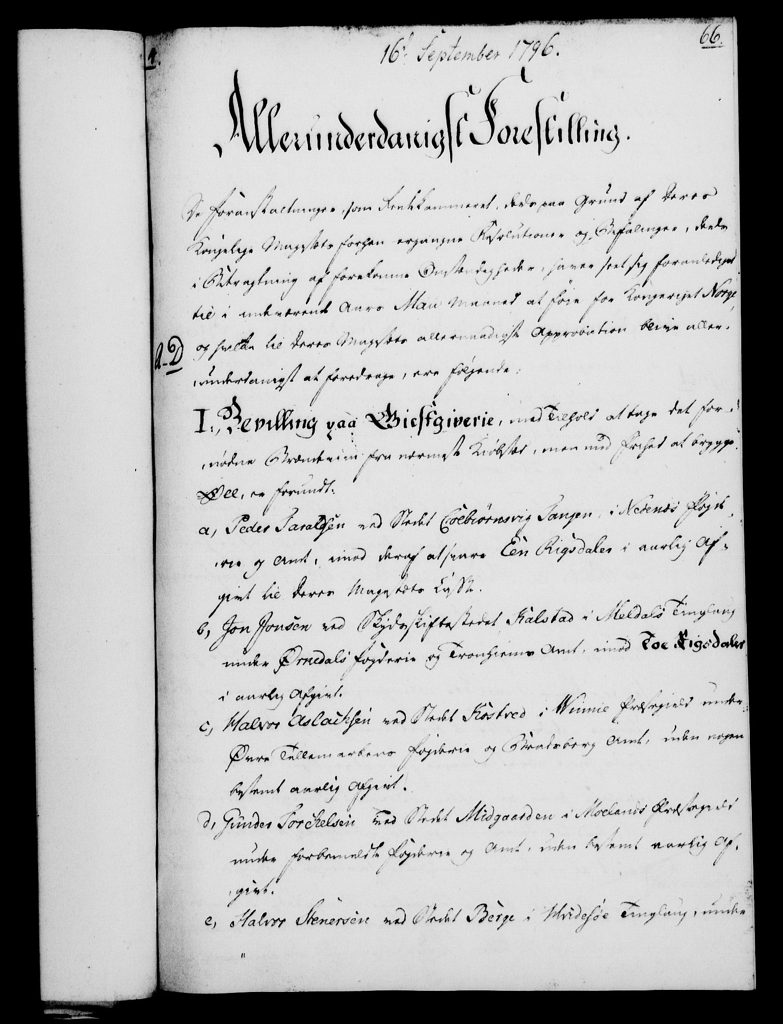 RA, Rentekammeret, Kammerkanselliet, G/Gf/Gfa/L0078: Norsk relasjons- og resolusjonsprotokoll (merket RK 52.78), 1796, s. 351