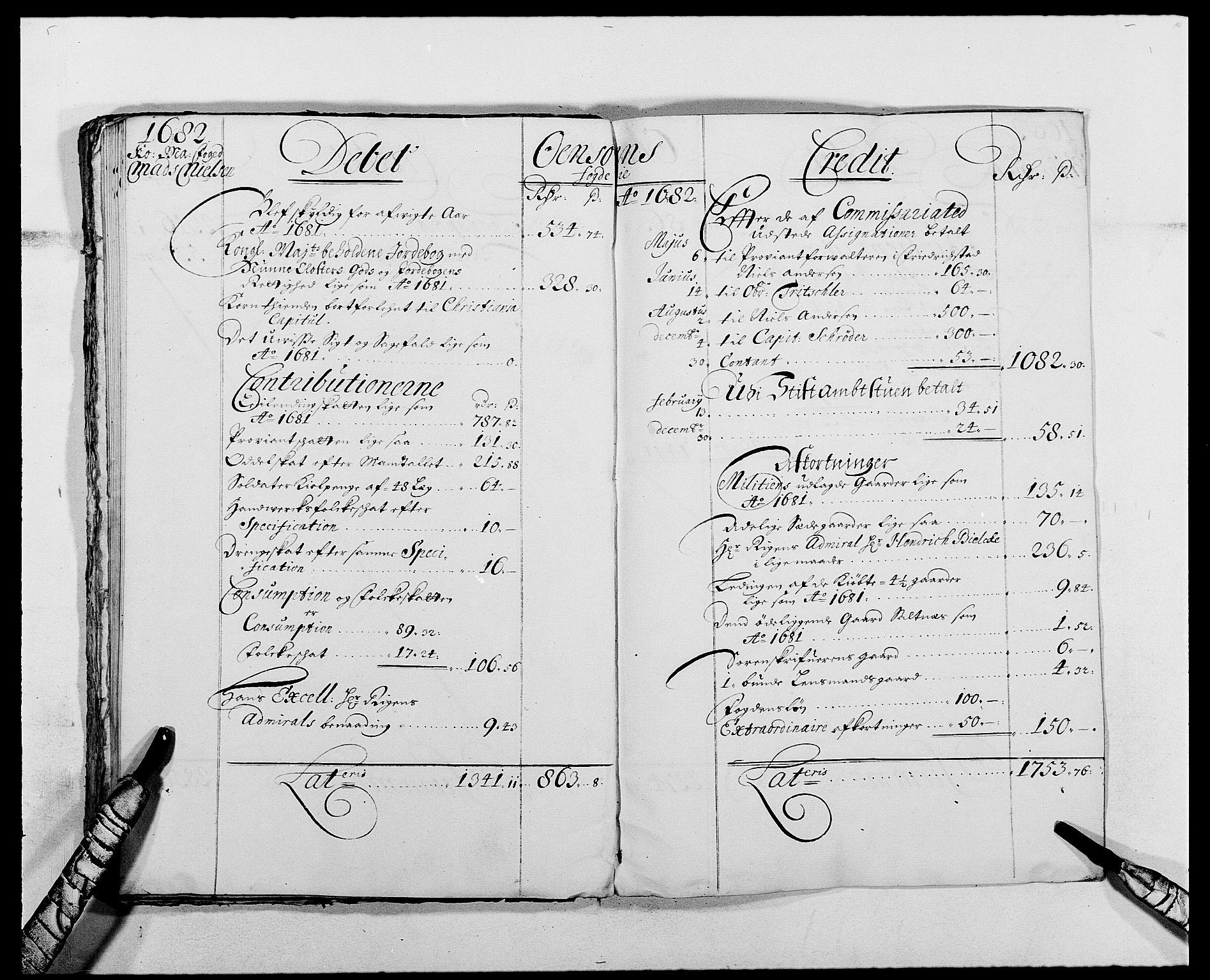 RA, Rentekammeret inntil 1814, Reviderte regnskaper, Fogderegnskap, R03/L0113: Fogderegnskap Onsøy, Tune, Veme og Åbygge fogderi, 1681-1683, s. 36