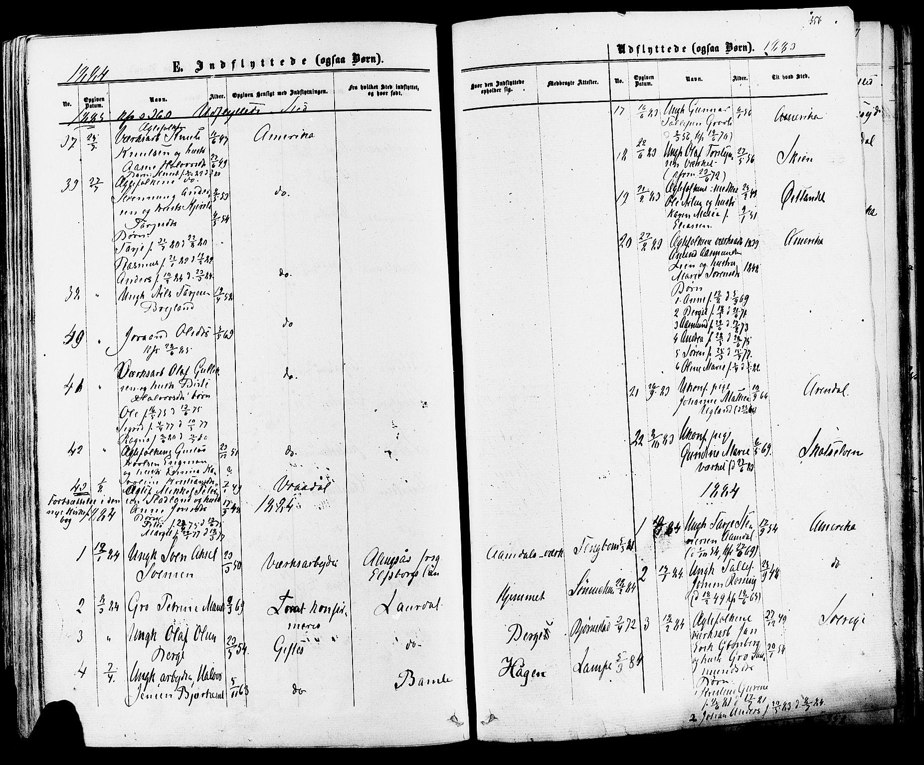 SAKO, Mo kirkebøker, F/Fa/L0006: Ministerialbok nr. I 6, 1865-1885, s. 356