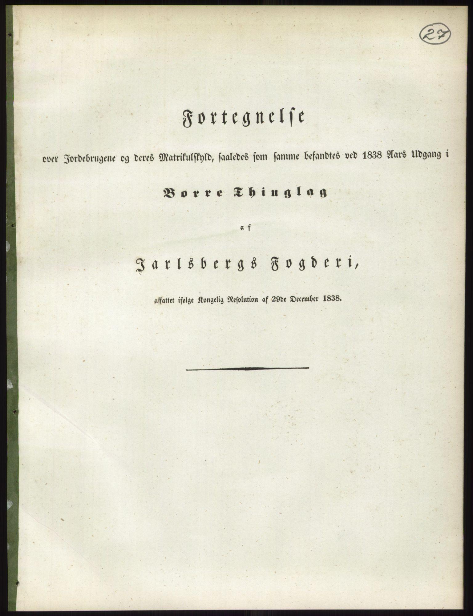 RA, 1838-matrikkelen (publikasjon)*, 1838, s. 27
