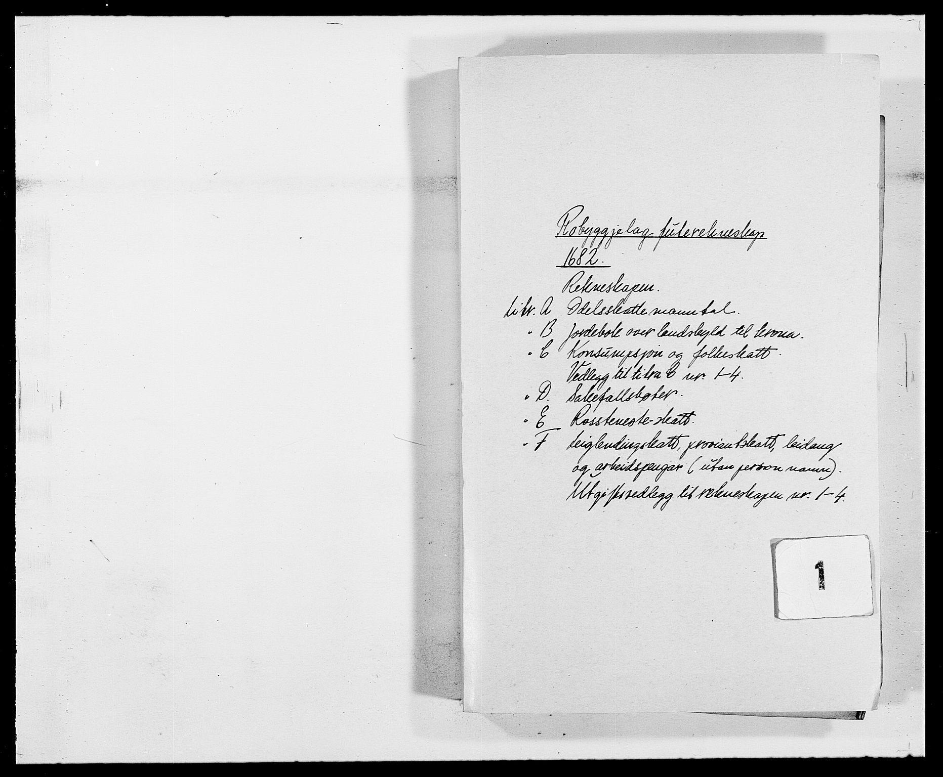 RA, Rentekammeret inntil 1814, Reviderte regnskaper, Fogderegnskap, R40/L2438: Fogderegnskap Råbyggelag, 1682-1683, s. 1