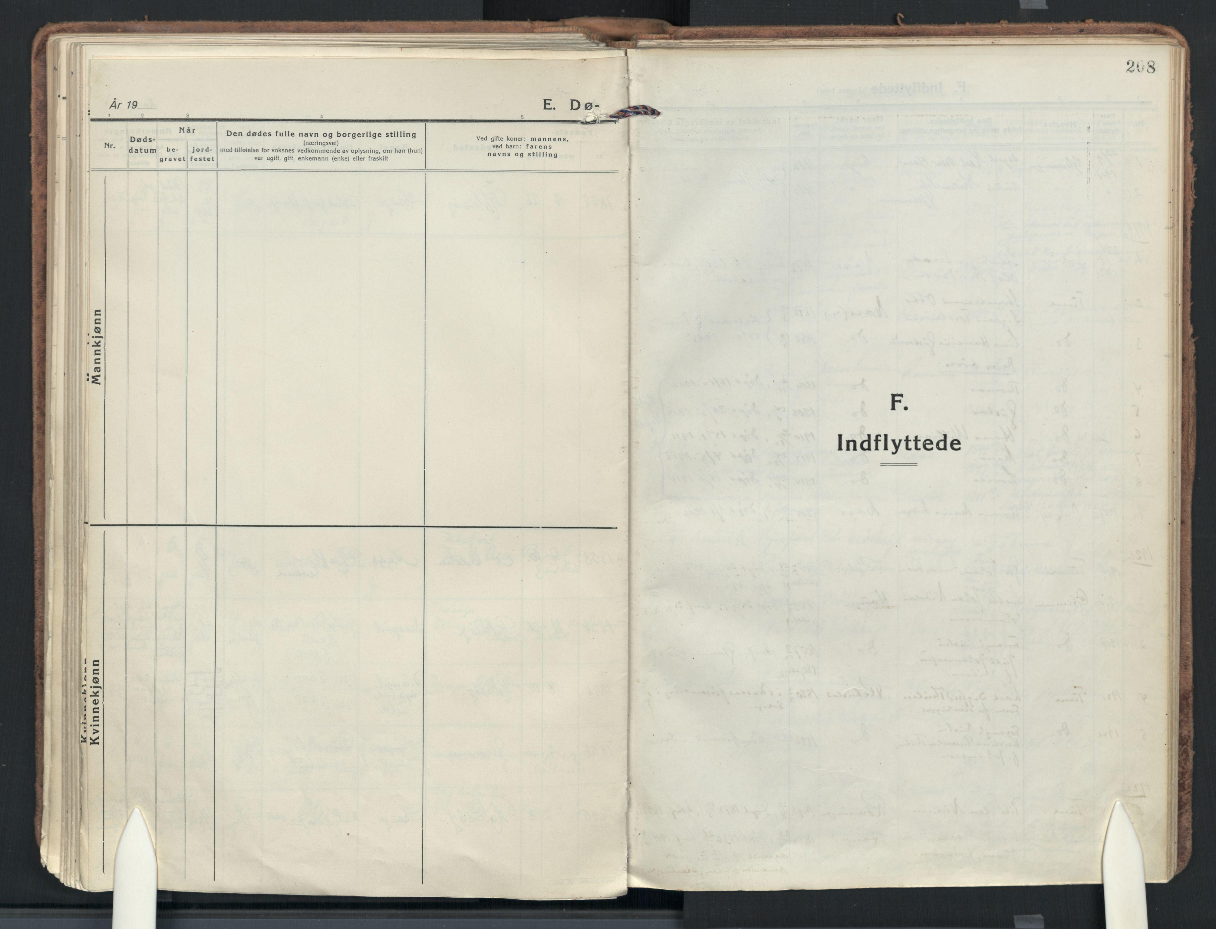 SAO, Rolvsøy prestekontor Kirkebøker, F/Fa: Ministerialbok nr. 3, 1917-1935, s. 208
