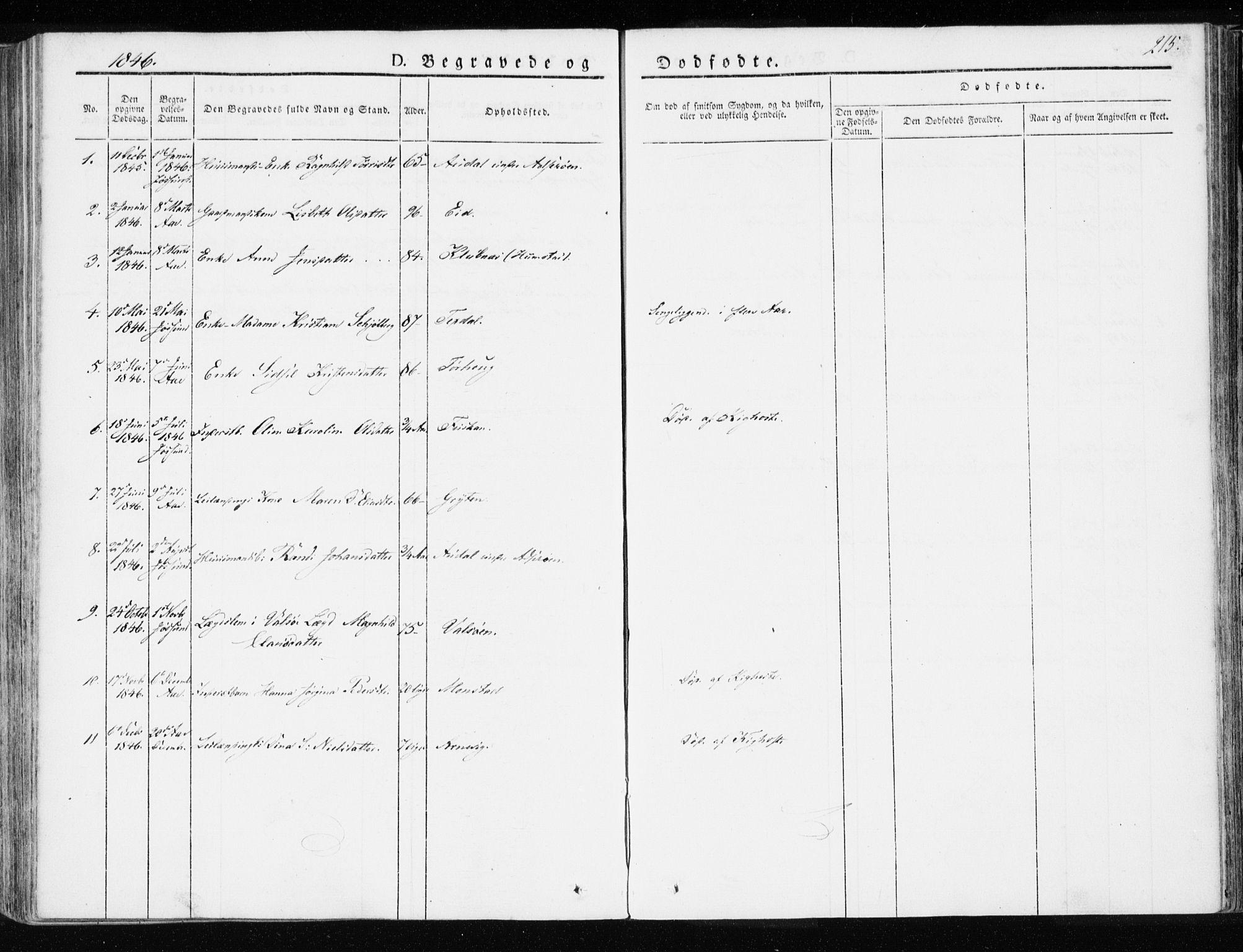 SAT, Ministerialprotokoller, klokkerbøker og fødselsregistre - Sør-Trøndelag, 655/L0676: Ministerialbok nr. 655A05, 1830-1847, s. 215
