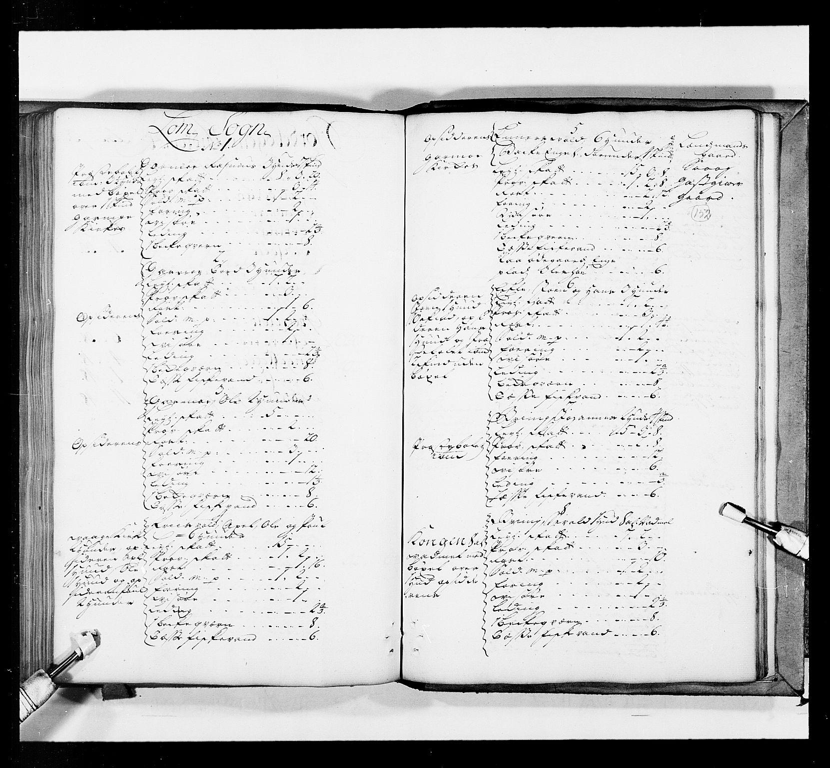 RA, Stattholderembetet 1572-1771, Ek/L0036: Jordebøker 1662-1720:, 1719, s. 151b-152a