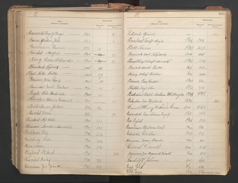 SAST, Stavanger sjømannskontor, F/Fb/Fba/L0005: Navneregister sjøfartsruller, etternavnsregister til hovedrulle 1921, 1921-1947, s. 99