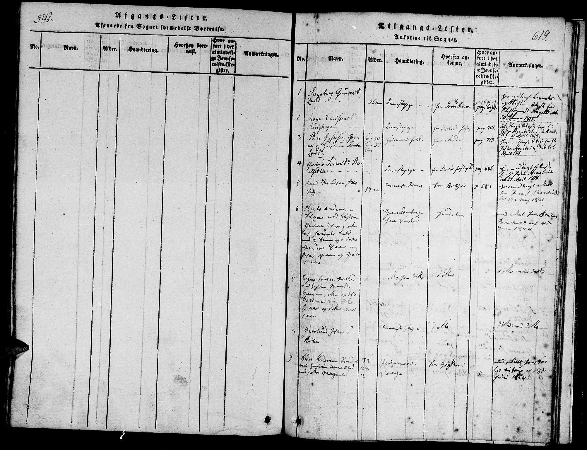 SAT, Ministerialprotokoller, klokkerbøker og fødselsregistre - Møre og Romsdal, 547/L0602: Ministerialbok nr. 547A04, 1818-1845, s. 618-619