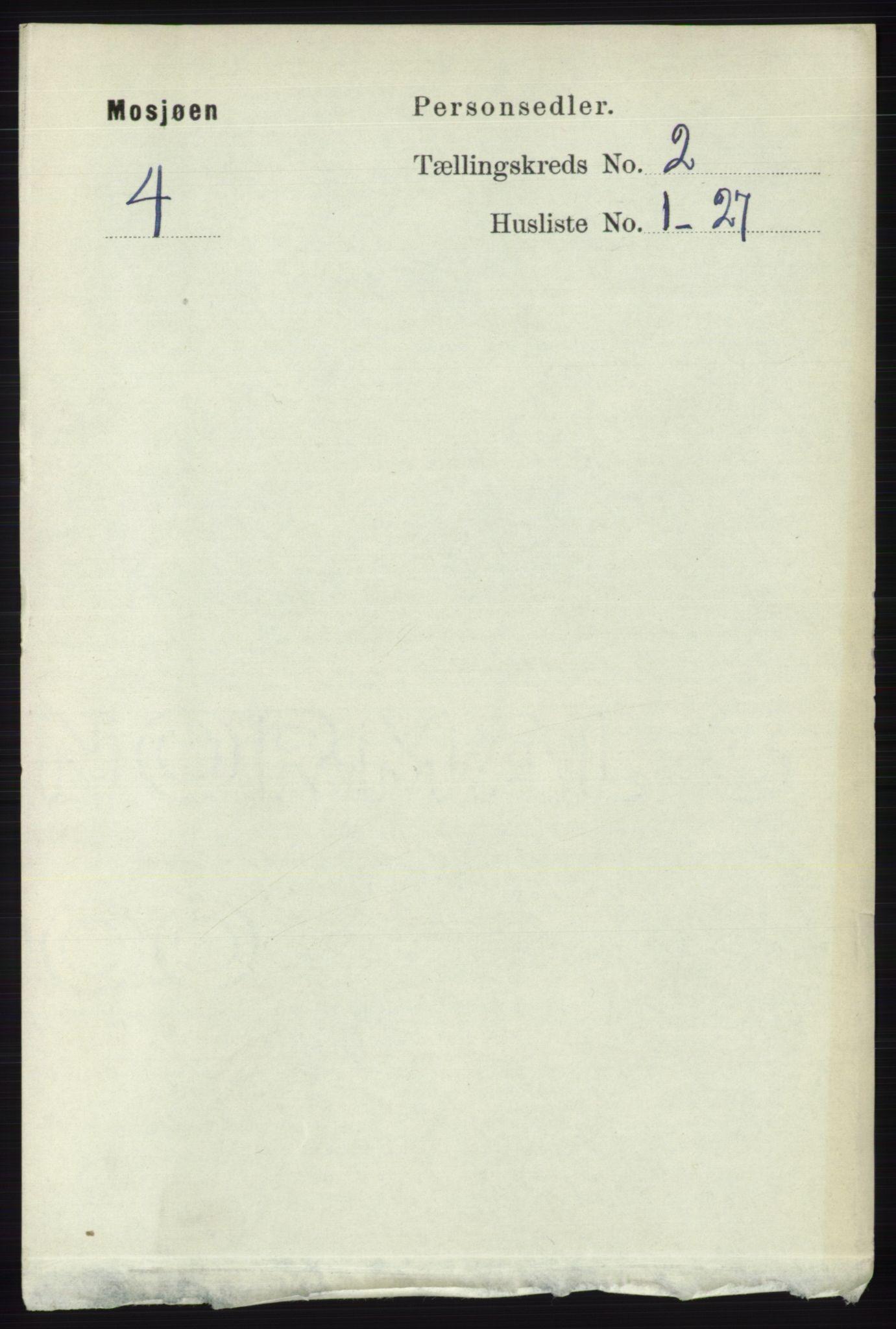 RA, Folketelling 1891 for 1802 Mosjøen ladested, 1891, s. 749