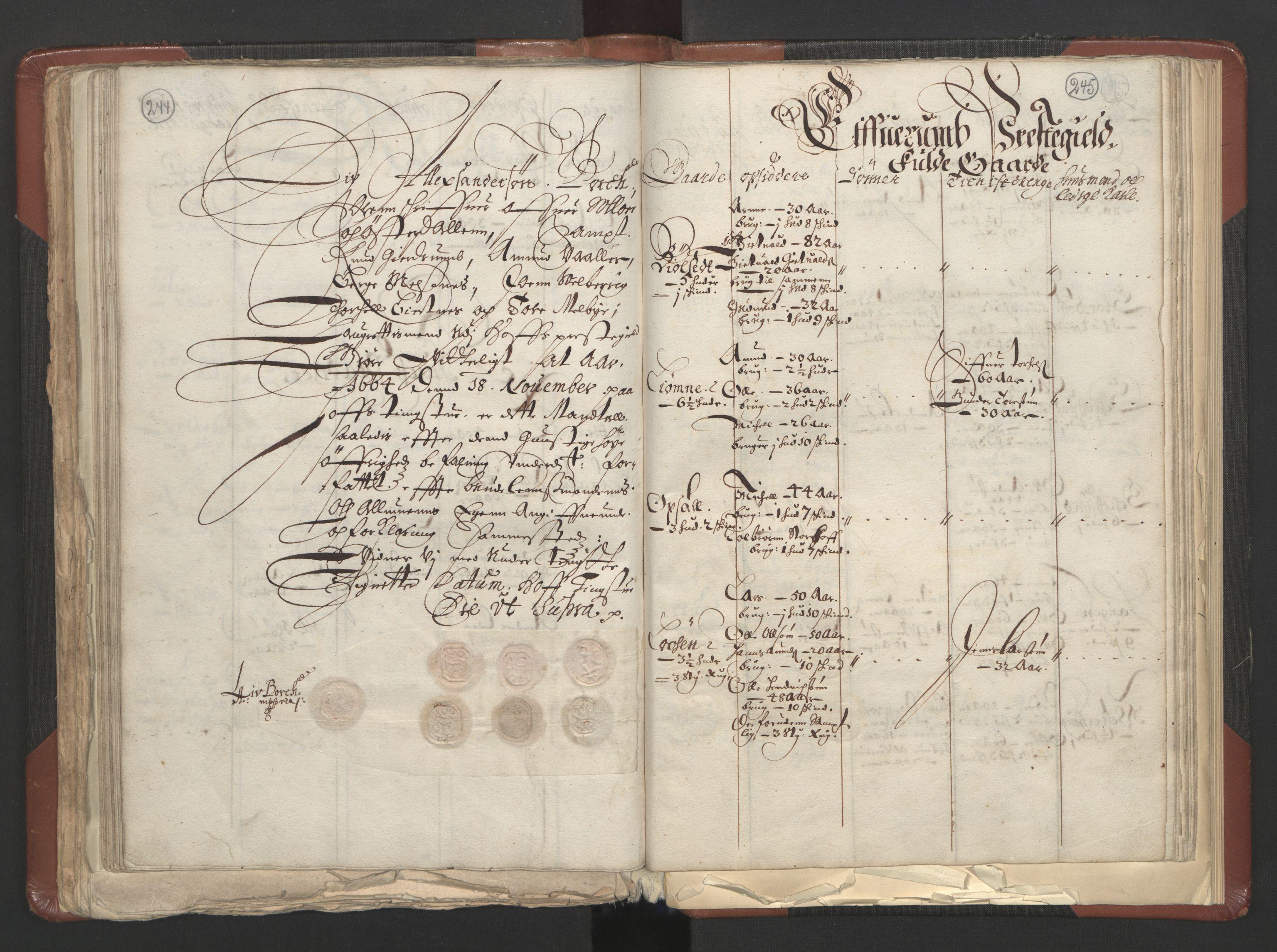 RA, Fogdenes og sorenskrivernes manntall 1664-1666, nr. 3: Hedmark fogderi og Solør, Østerdal og Odal fogderi, 1664, s. 244-245