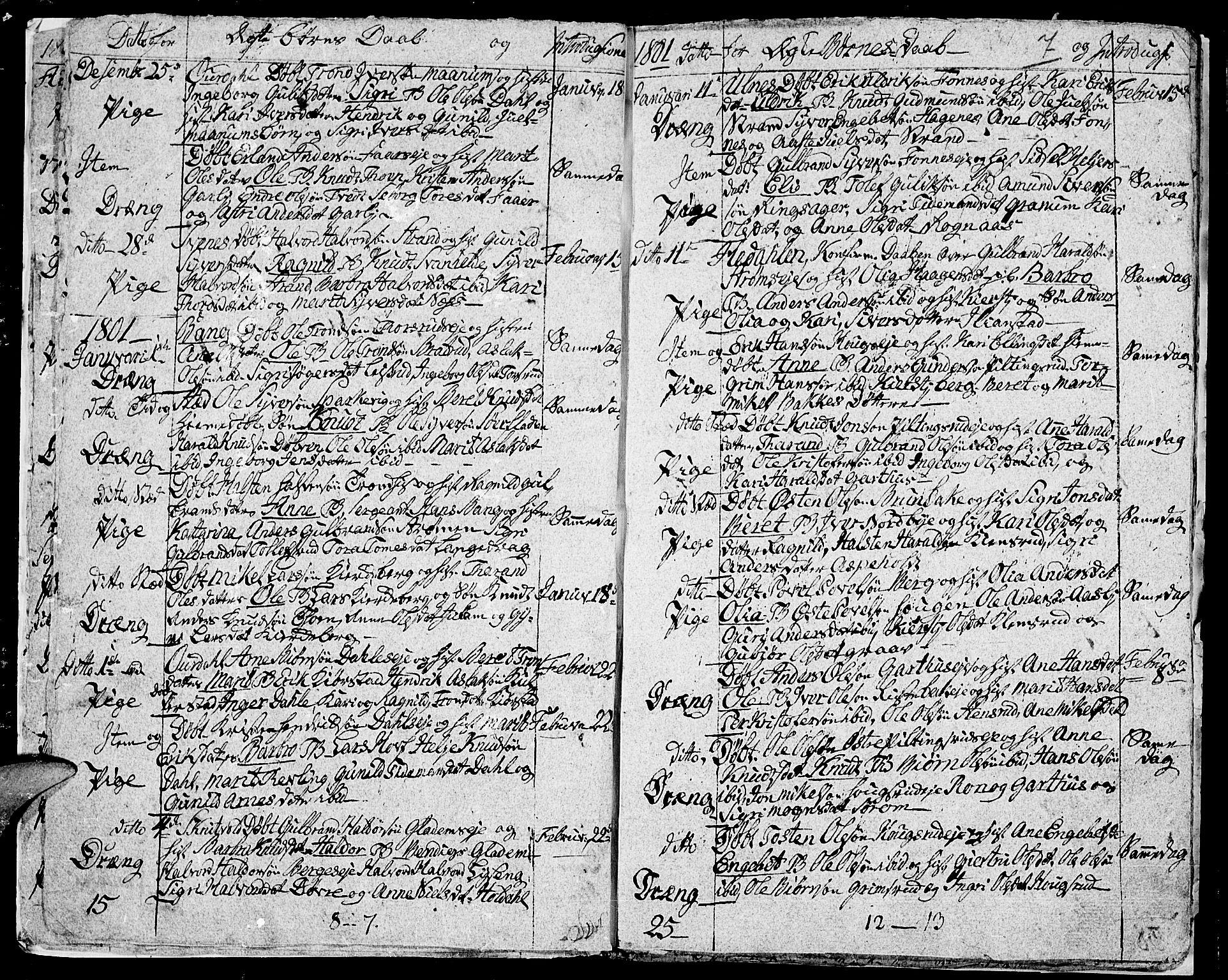 SAH, Aurdal prestekontor, Ministerialbok nr. 7, 1800-1808, s. 7
