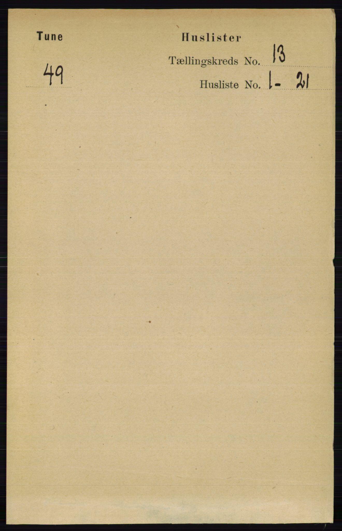 RA, Folketelling 1891 for 0130 Tune herred, 1891, s. 7539