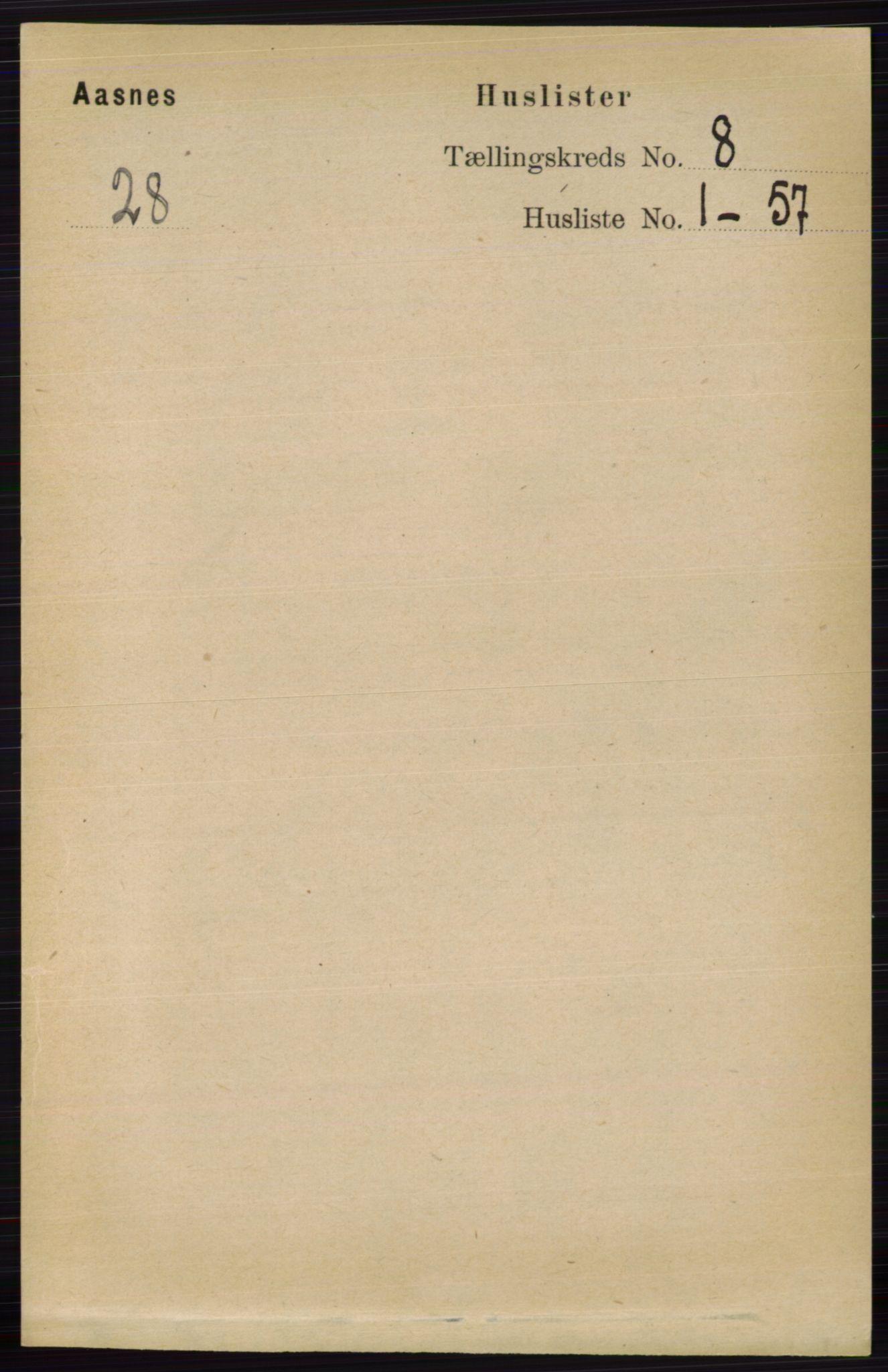 RA, Folketelling 1891 for 0425 Åsnes herred, 1891, s. 4117