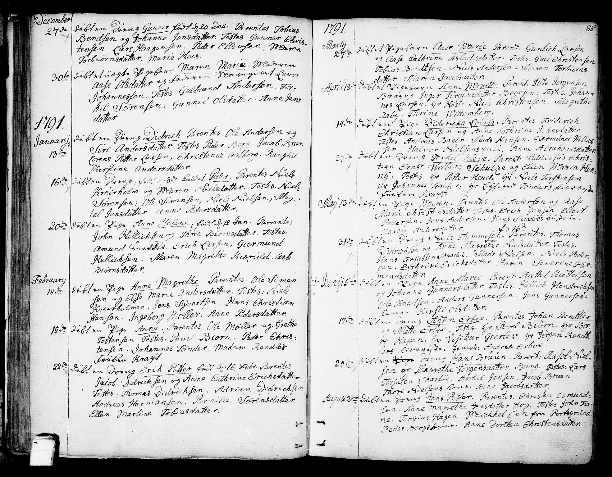 SAKO, Kragerø kirkebøker, F/Fa/L0002: Ministerialbok nr. 2, 1767-1802, s. 65