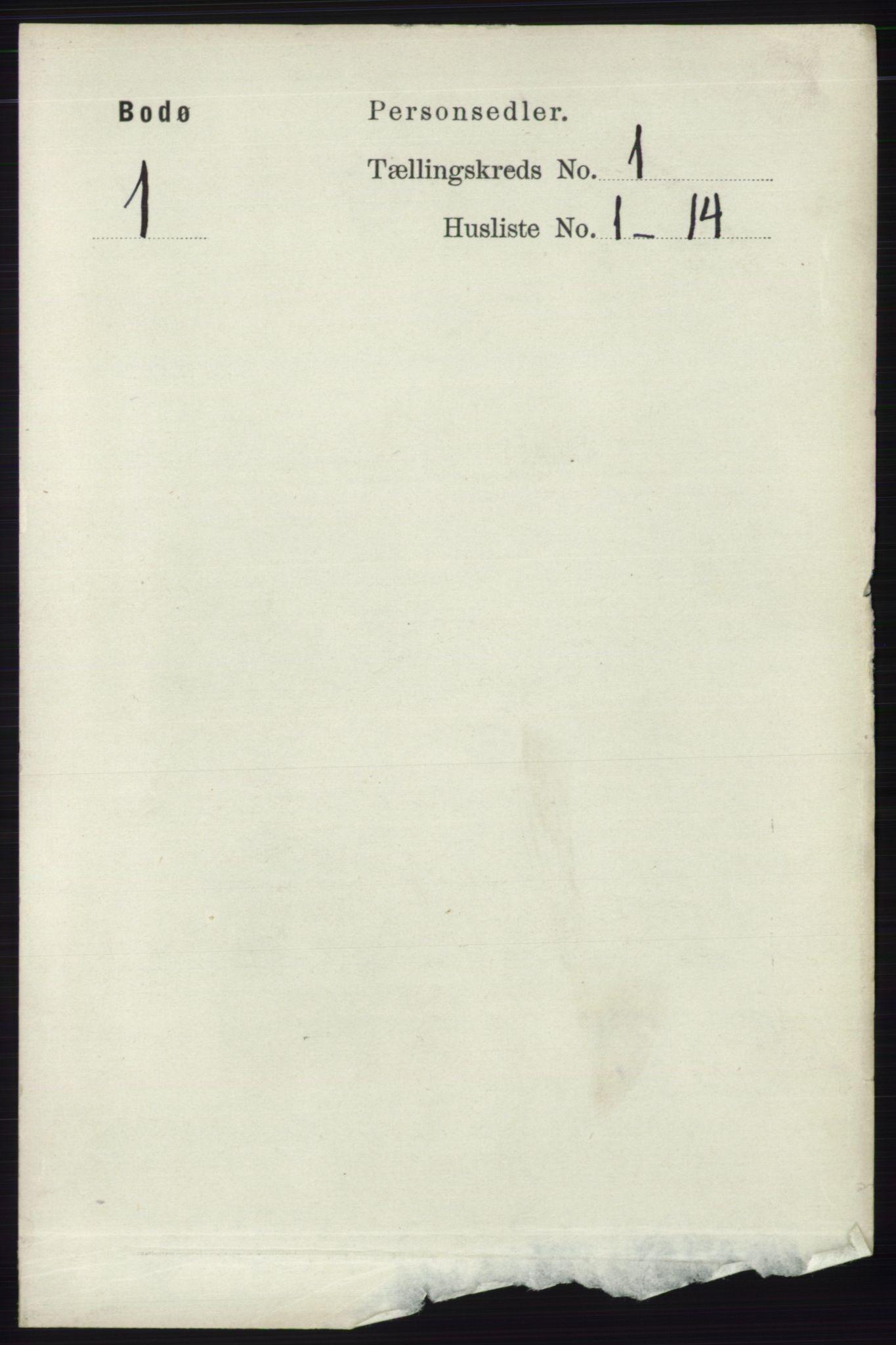 RA, Folketelling 1891 for 1804 Bodø kjøpstad, 1891, s. 128