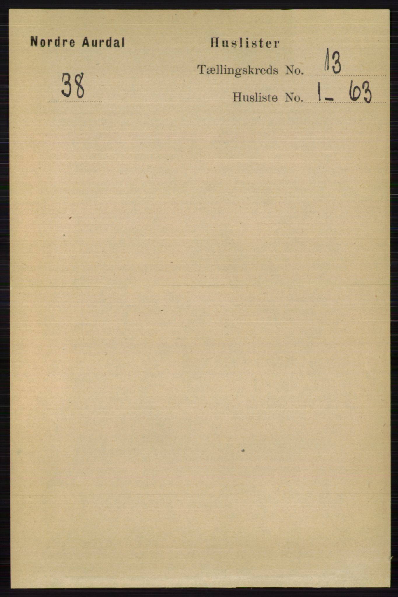 RA, Folketelling 1891 for 0542 Nord-Aurdal herred, 1891, s. 4695