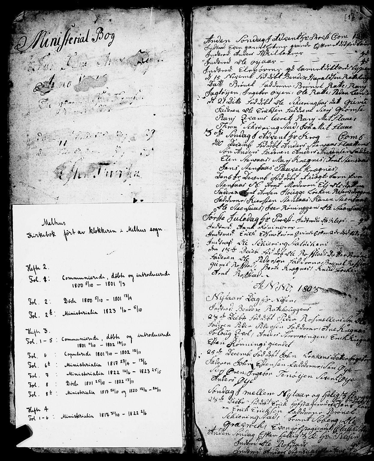 SAT, Ministerialprotokoller, klokkerbøker og fødselsregistre - Sør-Trøndelag, 691/L1091: Klokkerbok nr. 691C02, 1802-1815, s. 1