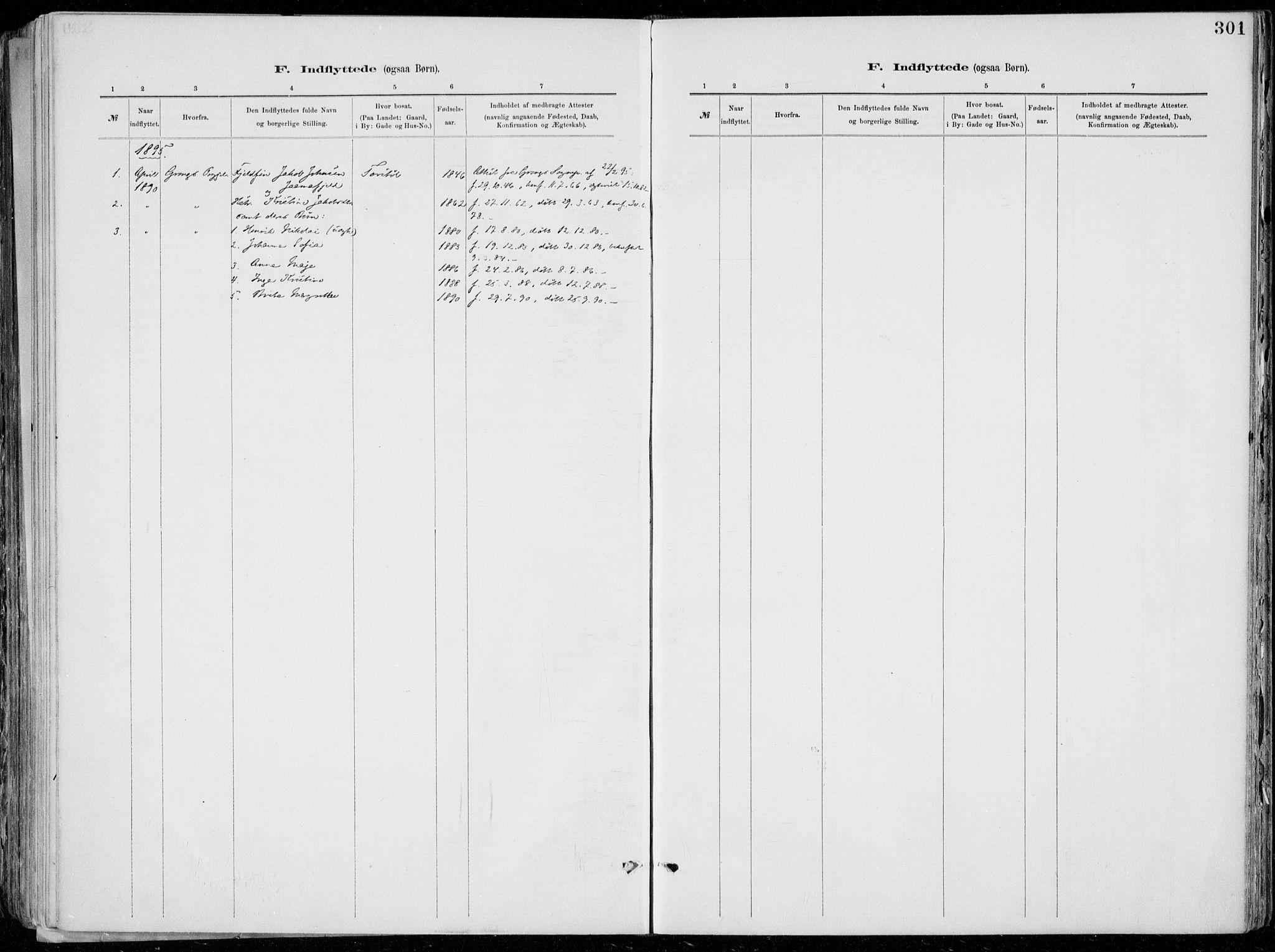 SAKO, Tinn kirkebøker, F/Fa/L0007: Ministerialbok nr. I 7, 1878-1922, s. 301