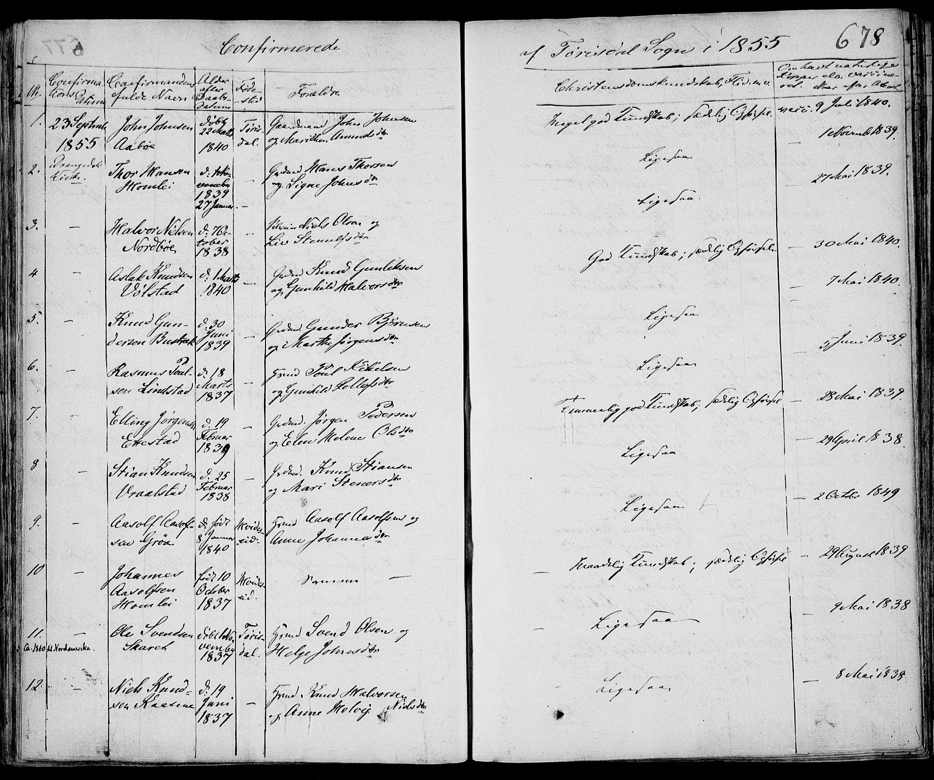 SAKO, Drangedal kirkebøker, F/Fa/L0007b: Ministerialbok nr. 7b, 1837-1856, s. 678