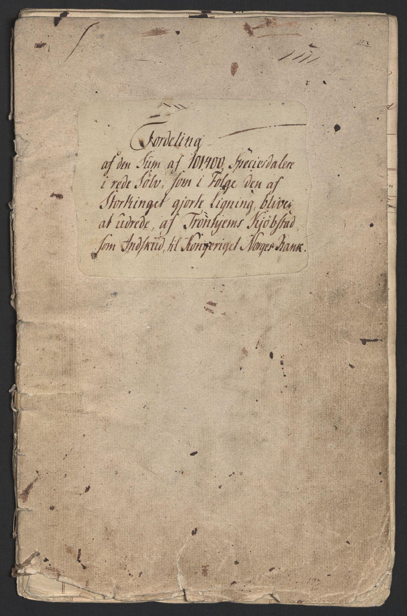 NOBA, Norges Bank/Sølvskatten 1816*, 1816-1820, s. 2
