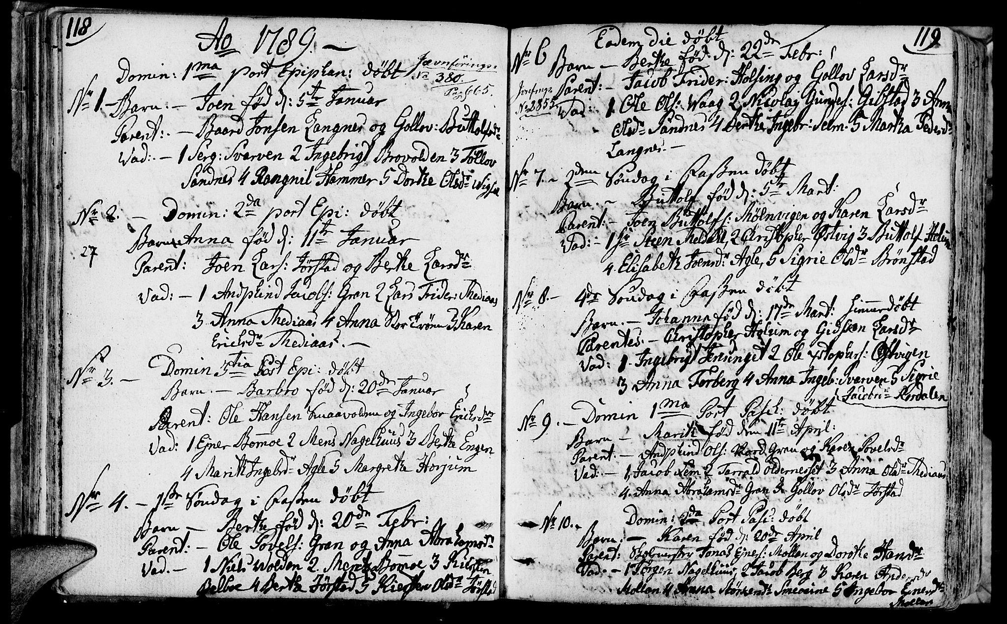 SAT, Ministerialprotokoller, klokkerbøker og fødselsregistre - Nord-Trøndelag, 749/L0468: Ministerialbok nr. 749A02, 1787-1817, s. 118-119