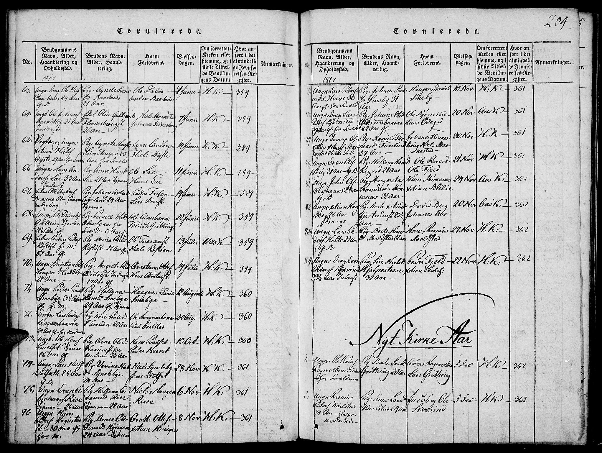 SAH, Toten prestekontor, Ministerialbok nr. 9, 1814-1820, s. 204