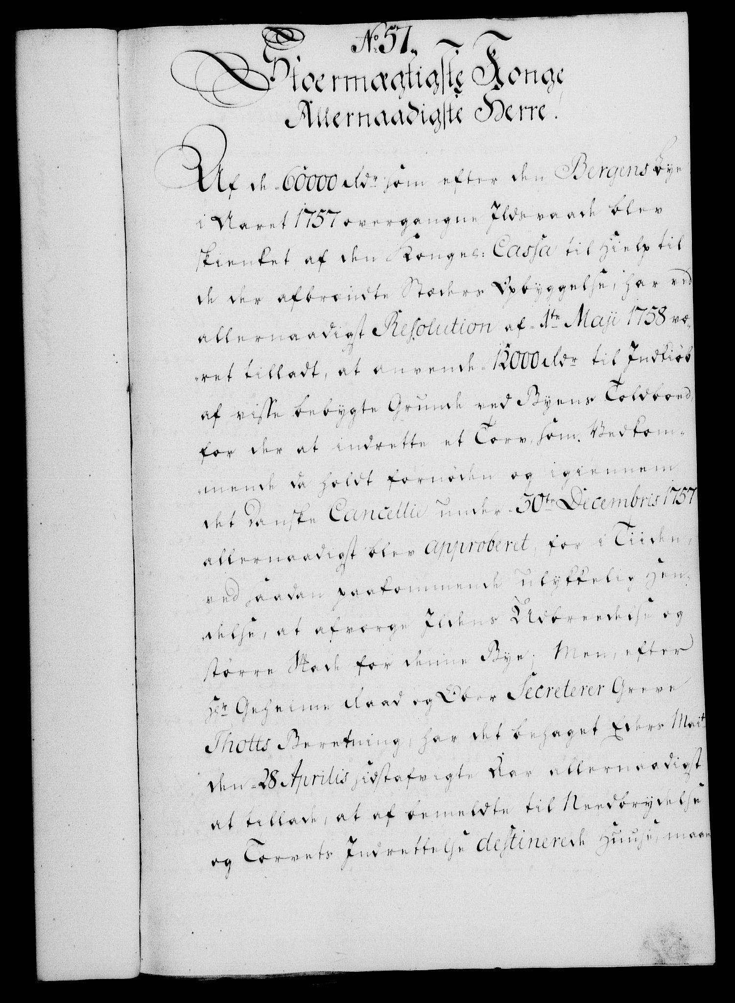 RA, Rentekammeret, Kammerkanselliet, G/Gf/Gfa/L0052: Norsk relasjons- og resolusjonsprotokoll (merket RK 52.52), 1770, s. 258