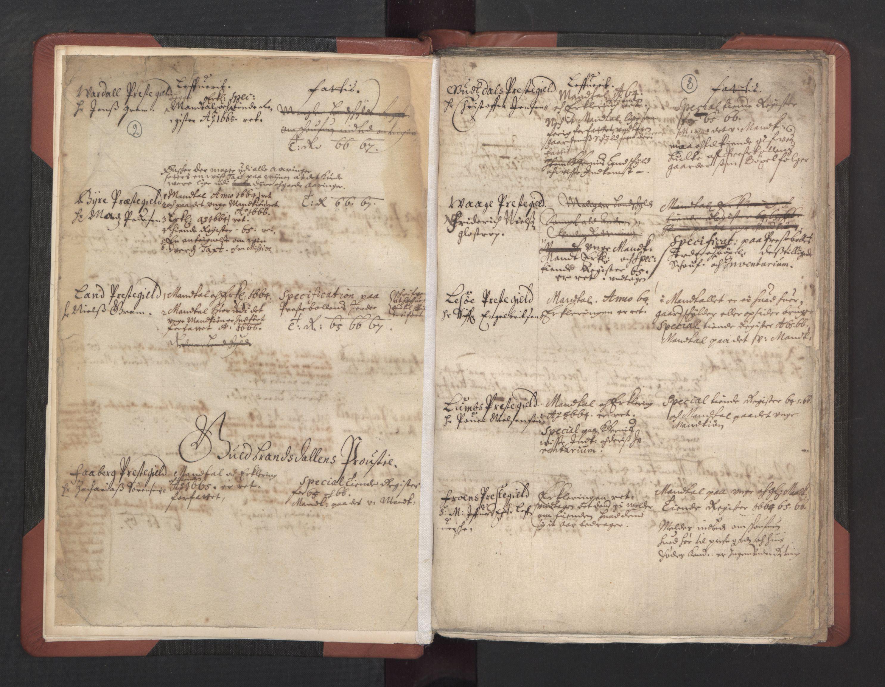 RA, Manntall 1664-1666, nr. 37: Titus Bülches og andres bemerkninger til manntallene, 1664-1666, s. 2-3