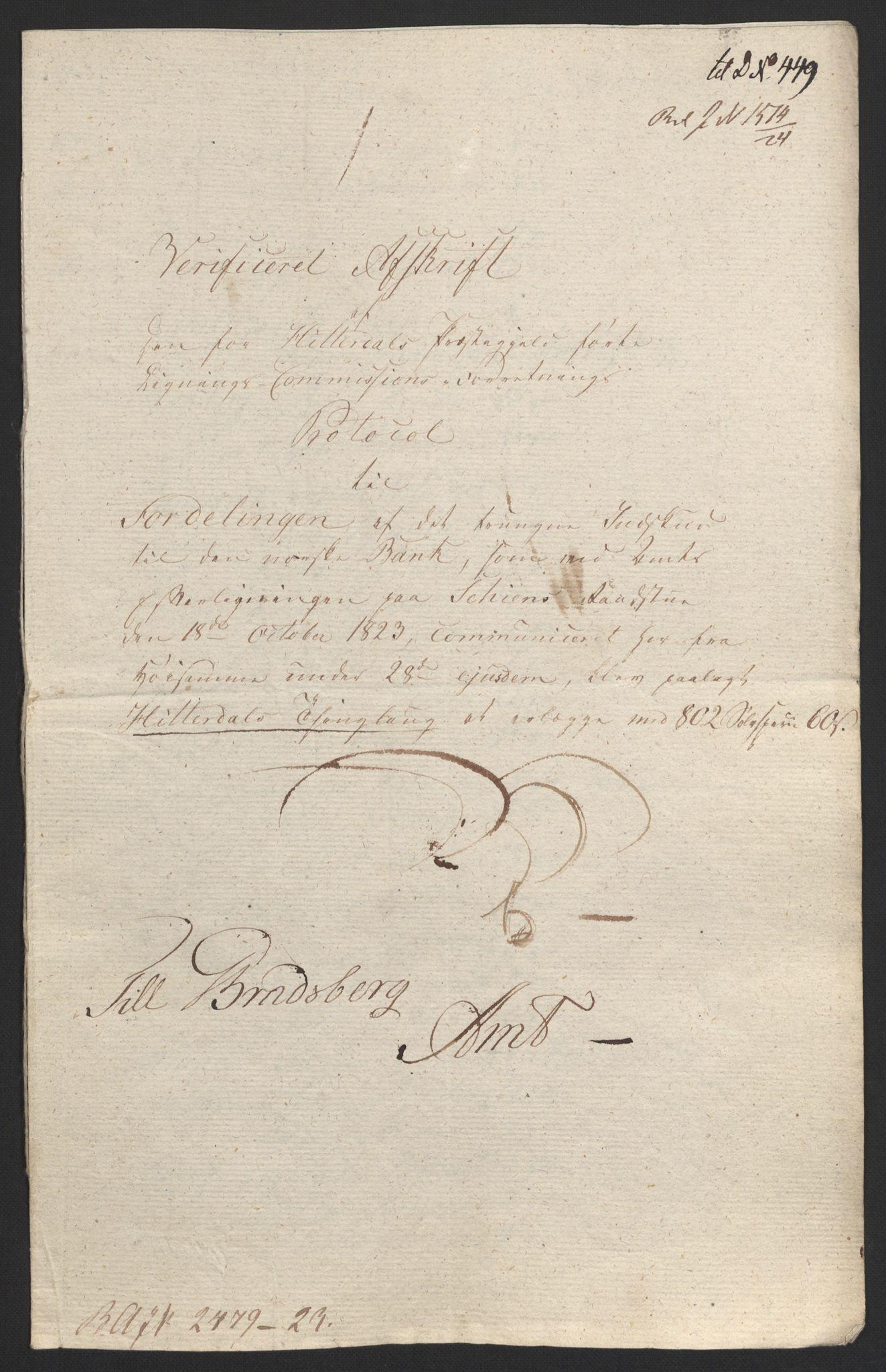 NOBA, Norges Bank/Sølvskatten 1816*, 1816-1824, s. 98