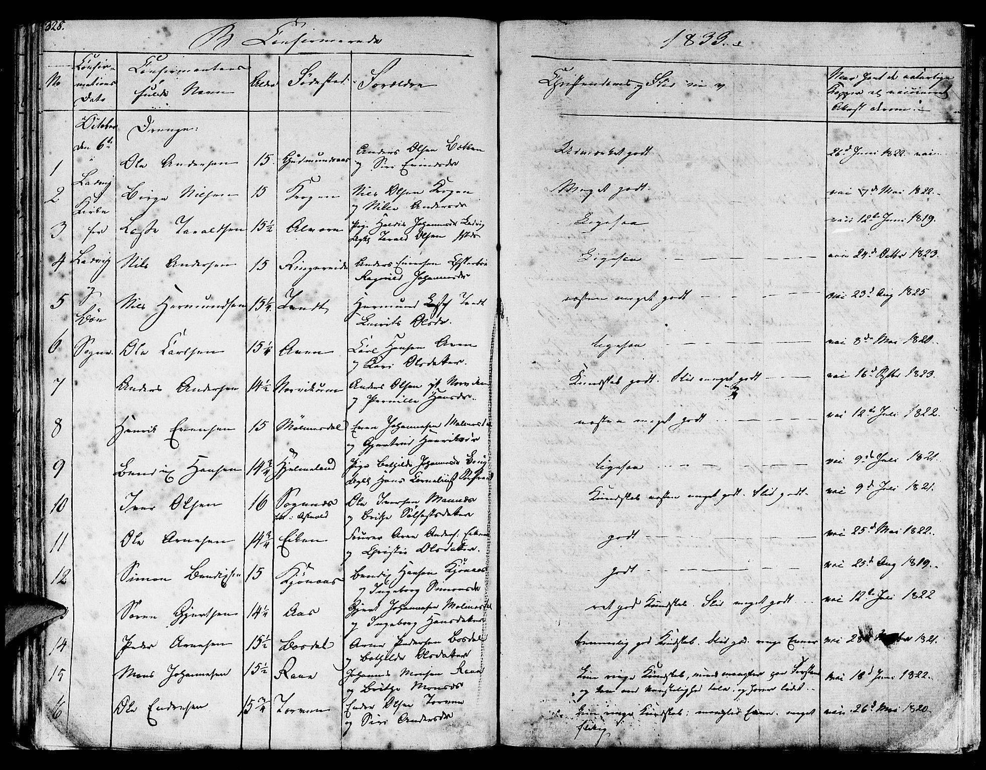 SAB, Lavik sokneprestembete, Ministerialbok nr. A 2I, 1821-1842, s. 328
