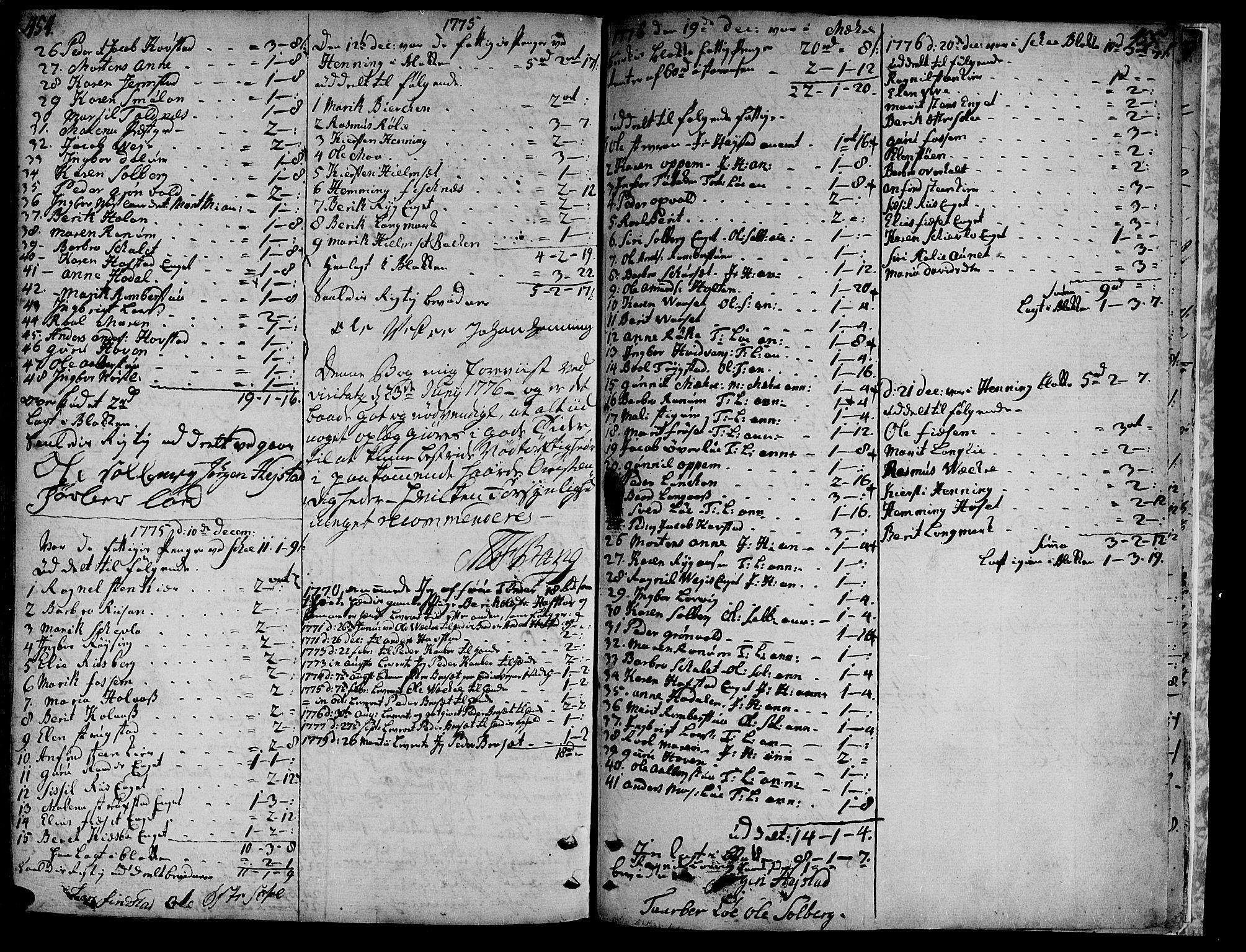 SAT, Ministerialprotokoller, klokkerbøker og fødselsregistre - Nord-Trøndelag, 735/L0331: Ministerialbok nr. 735A02, 1762-1794, s. 454-455