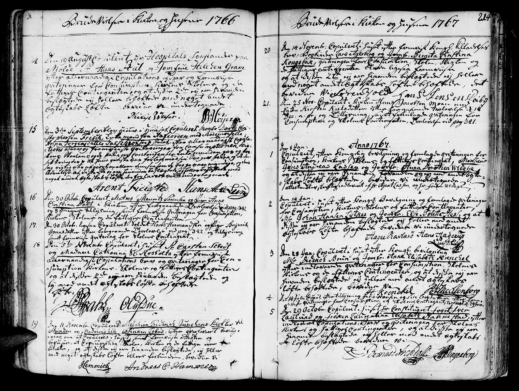 SAT, Ministerialprotokoller, klokkerbøker og fødselsregistre - Sør-Trøndelag, 602/L0103: Ministerialbok nr. 602A01, 1732-1774, s. 214