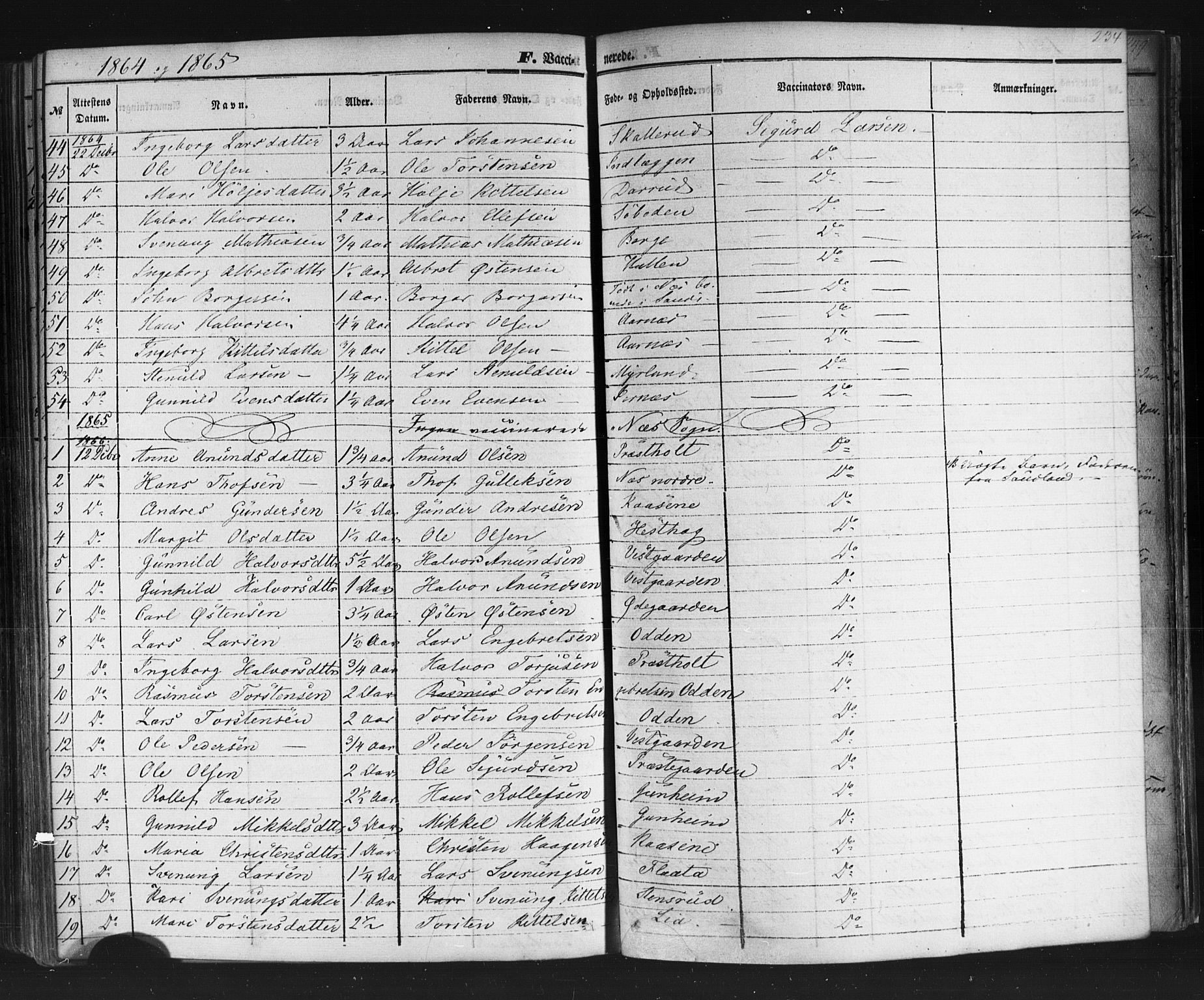 SAKO, Sauherad kirkebøker, F/Fb/L0001: Ministerialbok nr. II 1, 1851-1877, s. 234