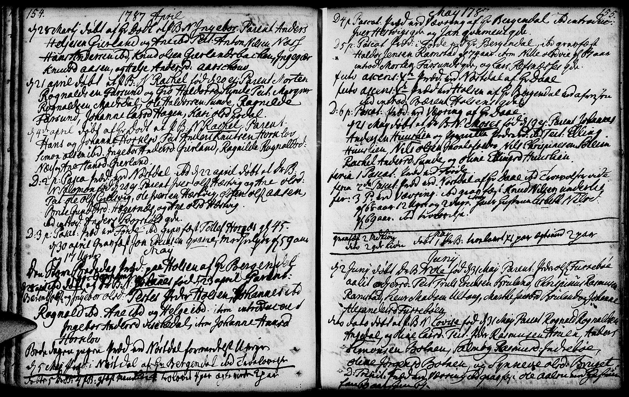 SAB, Førde sokneprestembete, H/Haa: Ministerialbok nr. A 4, 1781-1803, s. 154-155