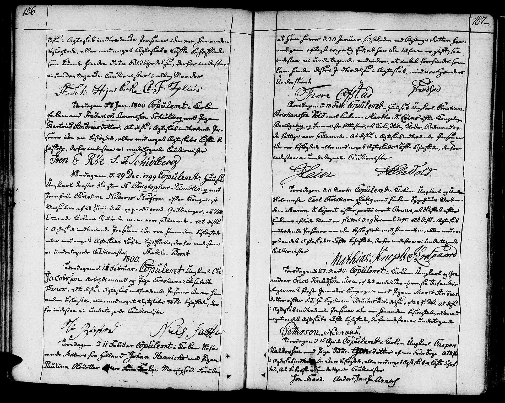 SAT, Ministerialprotokoller, klokkerbøker og fødselsregistre - Sør-Trøndelag, 602/L0105: Ministerialbok nr. 602A03, 1774-1814, s. 156-157