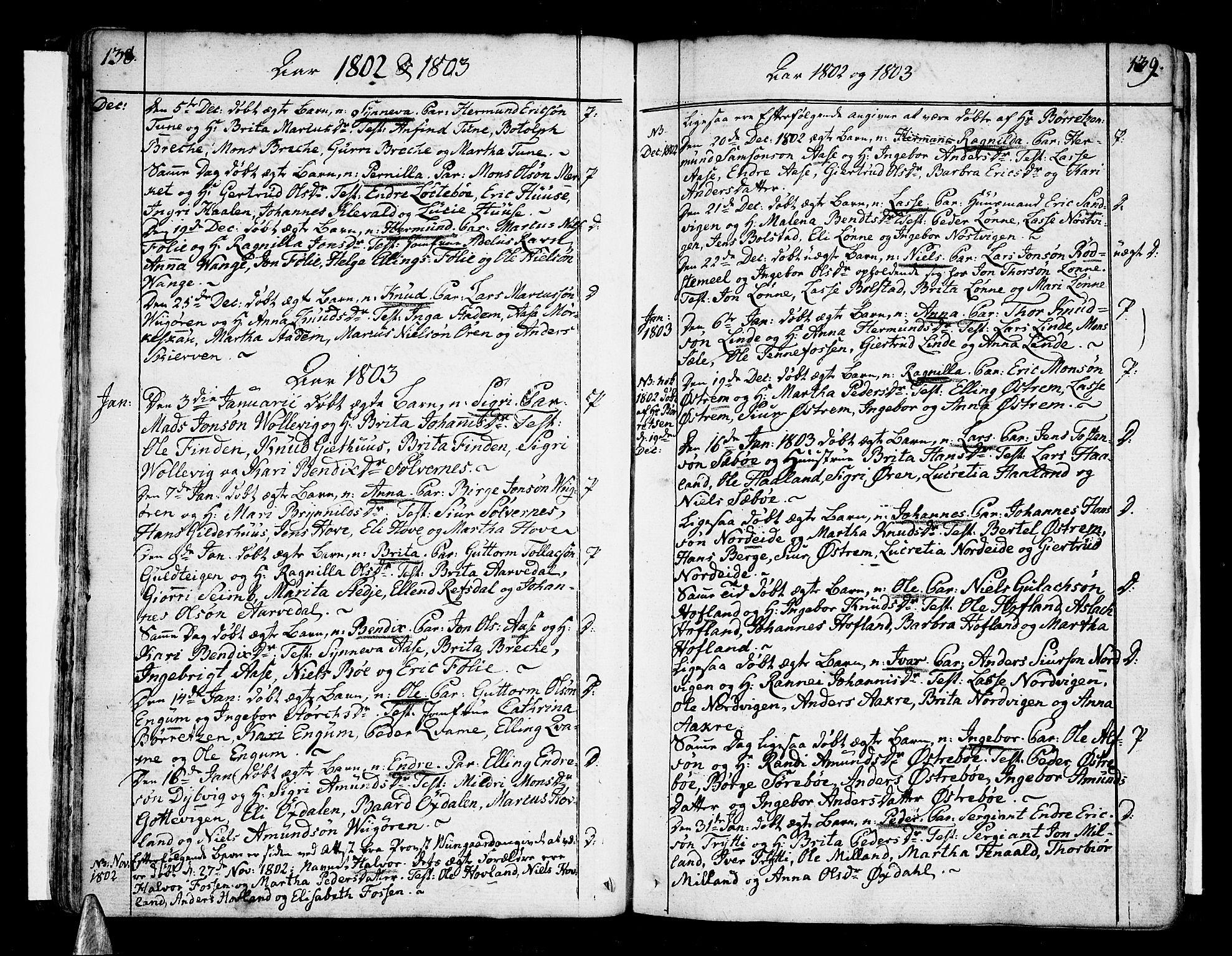 SAB, Vik Sokneprestembete, Ministerialbok nr. A 5, 1787-1820, s. 138-139