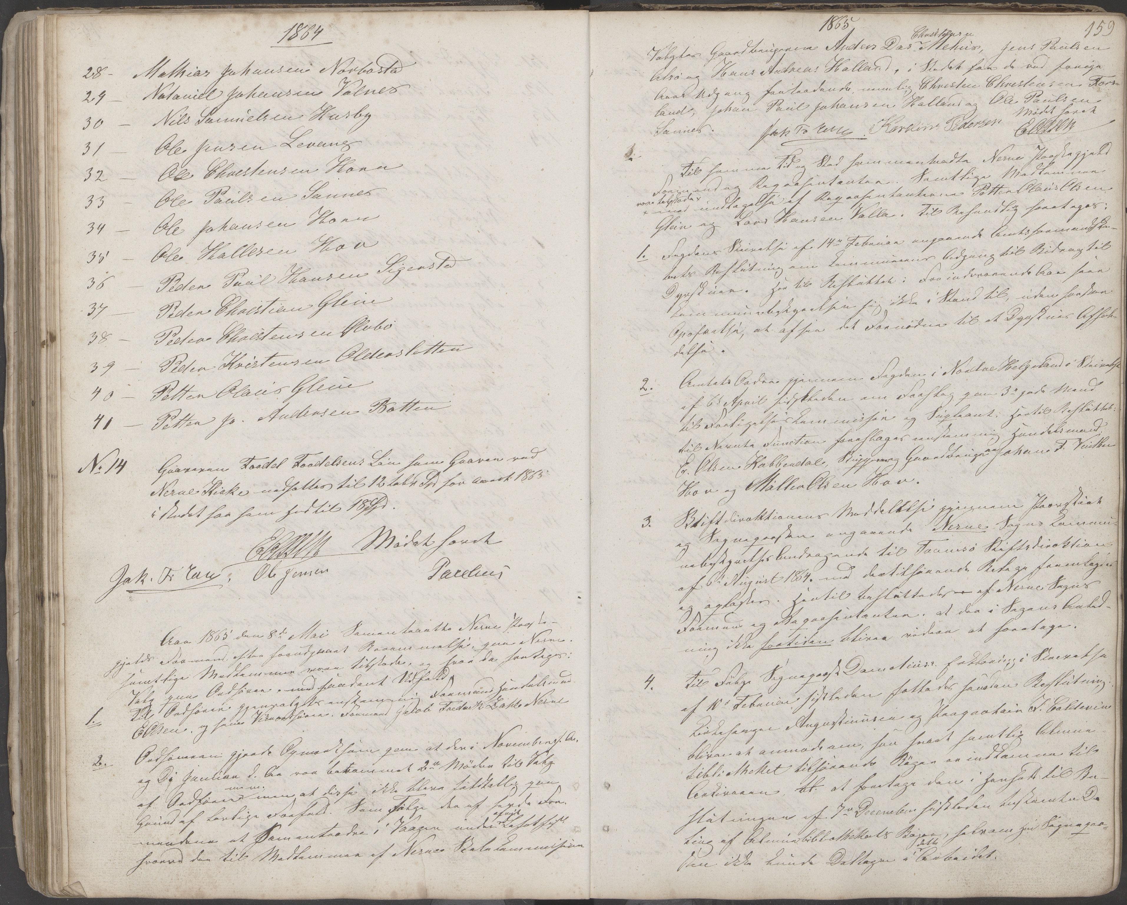 AIN, Nesna kommune. Formannskapet, 100/L0001: Møtebok, 1838-1873, s. 159