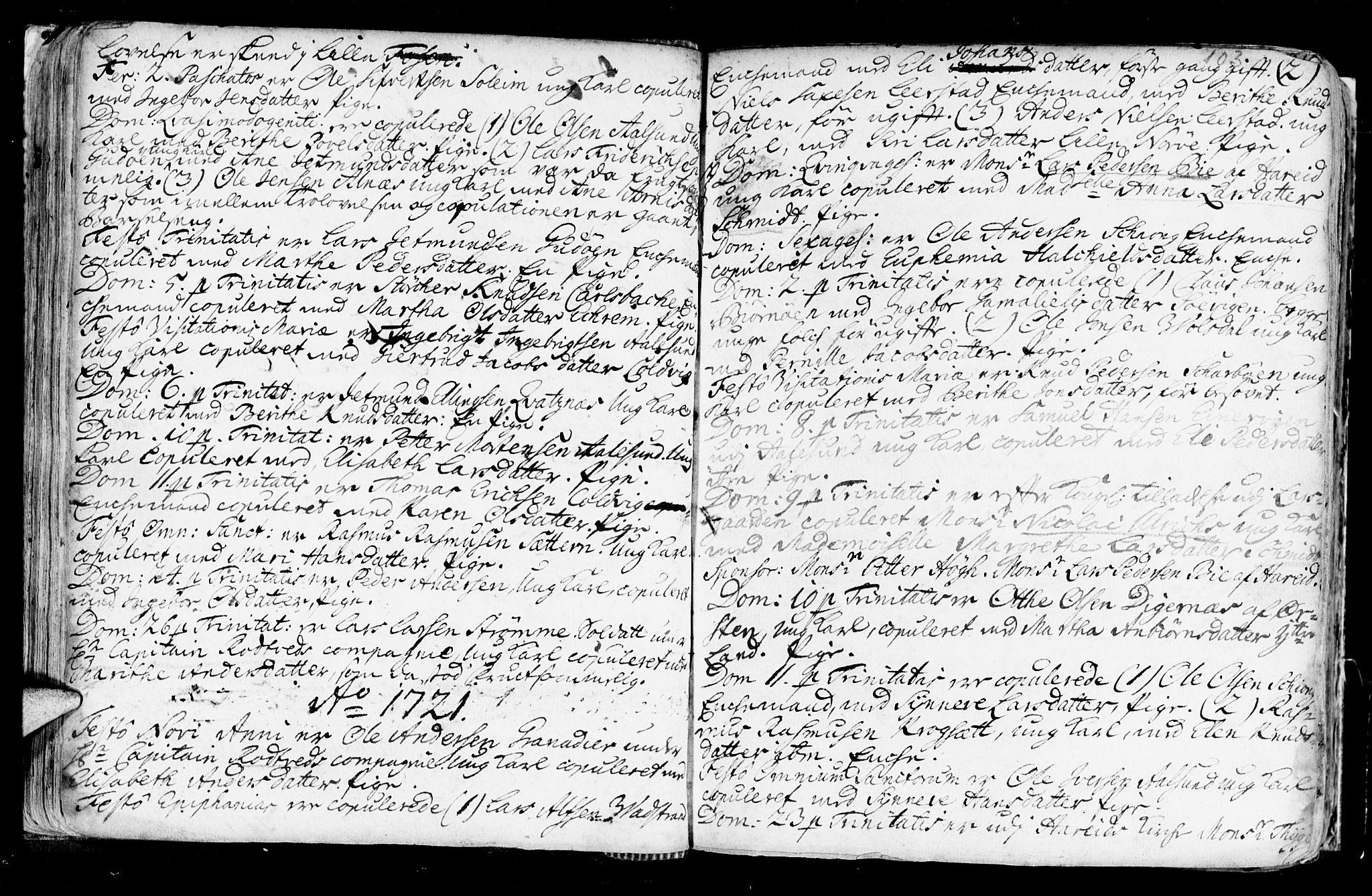SAT, Ministerialprotokoller, klokkerbøker og fødselsregistre - Møre og Romsdal, 528/L0390: Ministerialbok nr. 528A01, 1698-1739, s. 102-103