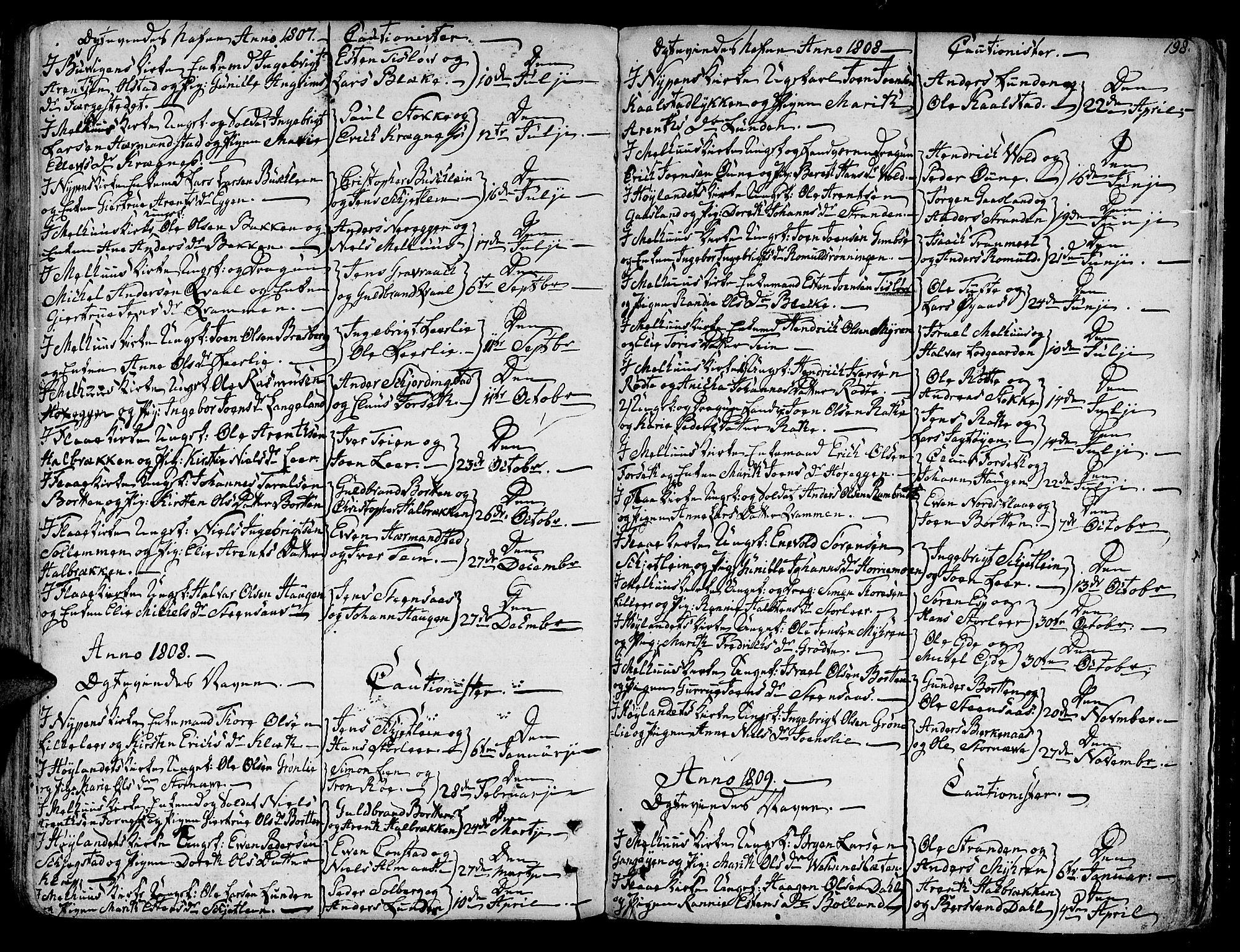 SAT, Ministerialprotokoller, klokkerbøker og fødselsregistre - Sør-Trøndelag, 691/L1061: Ministerialbok nr. 691A02 /1, 1768-1815, s. 198