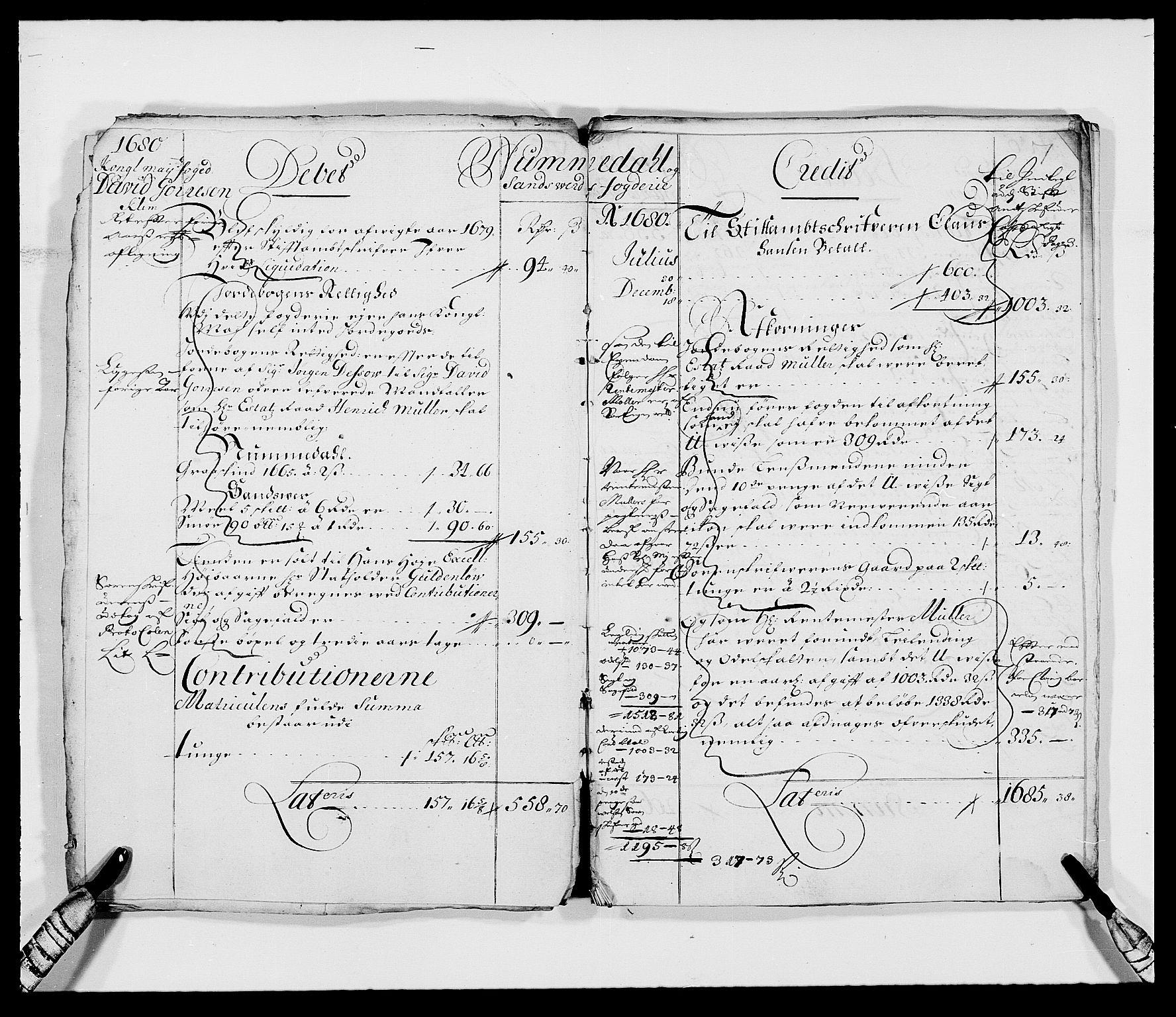 RA, Rentekammeret inntil 1814, Reviderte regnskaper, Fogderegnskap, R24/L1569: Fogderegnskap Numedal og Sandsvær, 1679-1686, s. 54