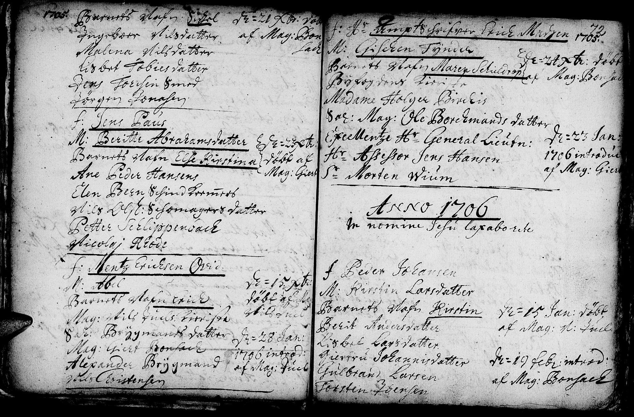 SAT, Ministerialprotokoller, klokkerbøker og fødselsregistre - Sør-Trøndelag, 601/L0034: Ministerialbok nr. 601A02, 1702-1714, s. 72