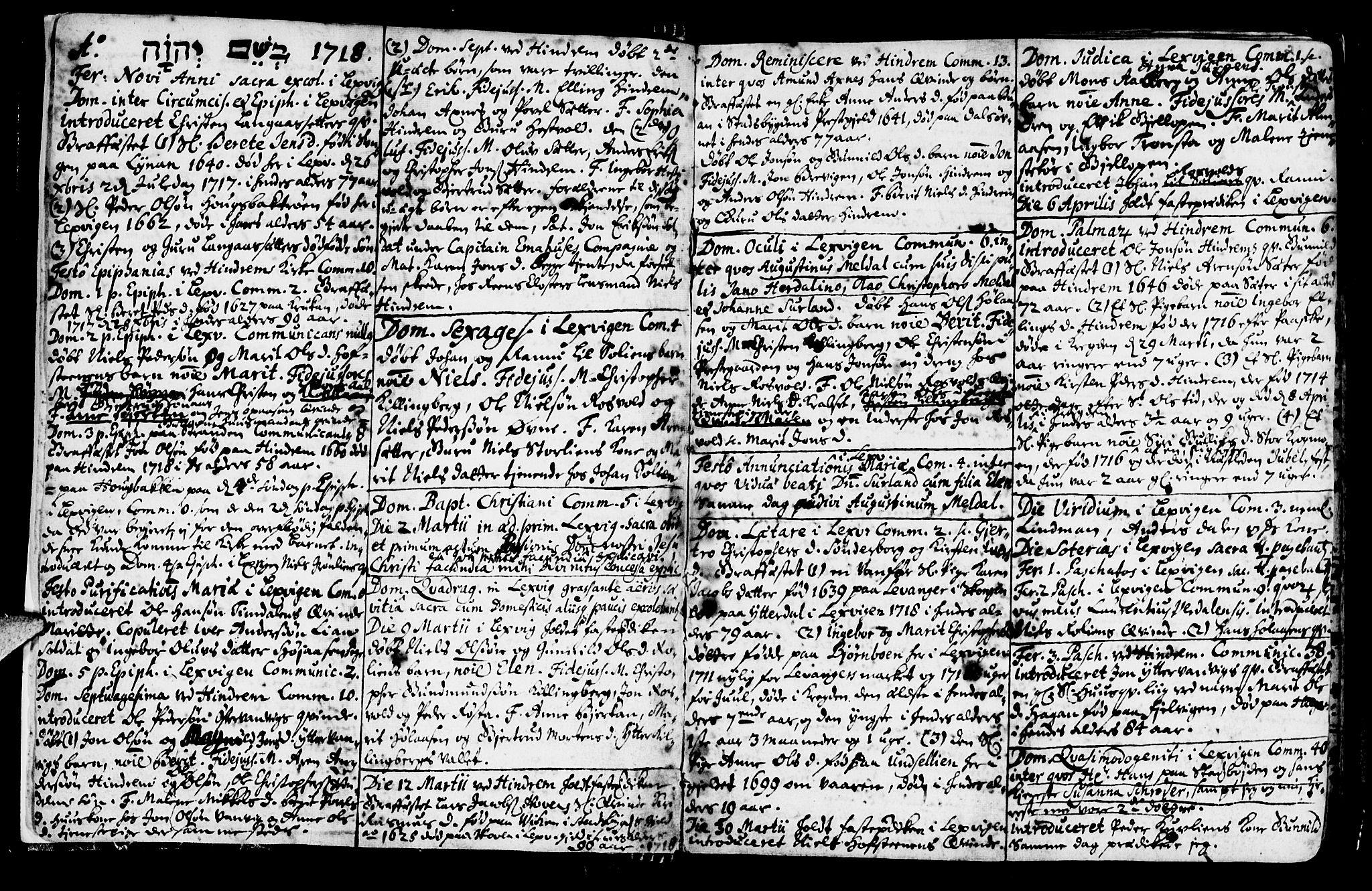SAT, Ministerialprotokoller, klokkerbøker og fødselsregistre - Nord-Trøndelag, 701/L0001: Ministerialbok nr. 701A01, 1717-1731, s. 2