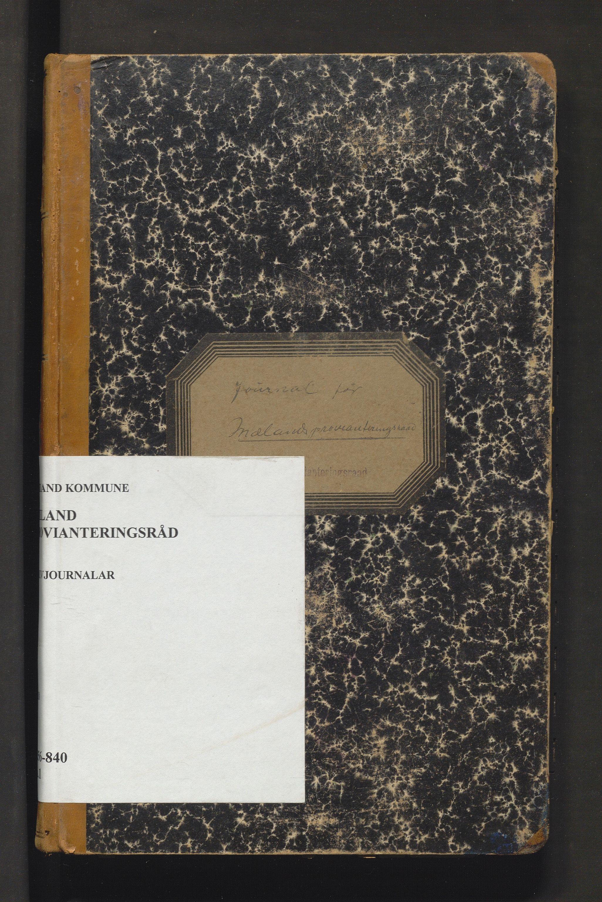 IKAH, Meland kommune. Provianteringsrådet, C/Ca/L0001: Brevjournal for Meland provianteringsråd, 1918