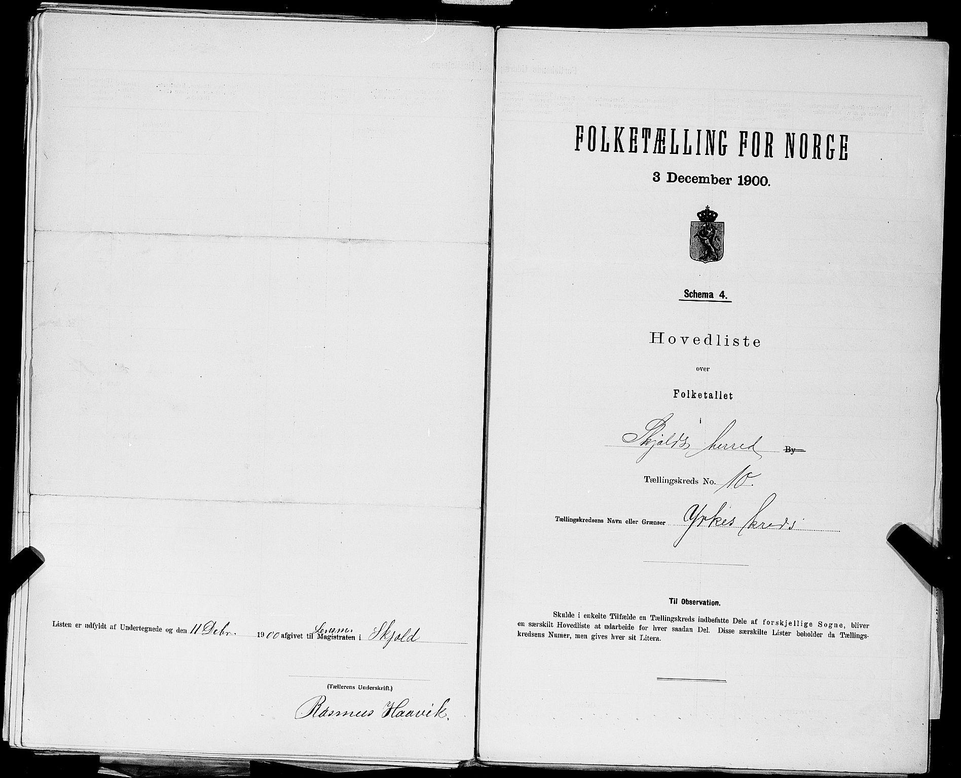 SAST, Folketelling 1900 for 1154 Skjold herred, 1900, s. 33